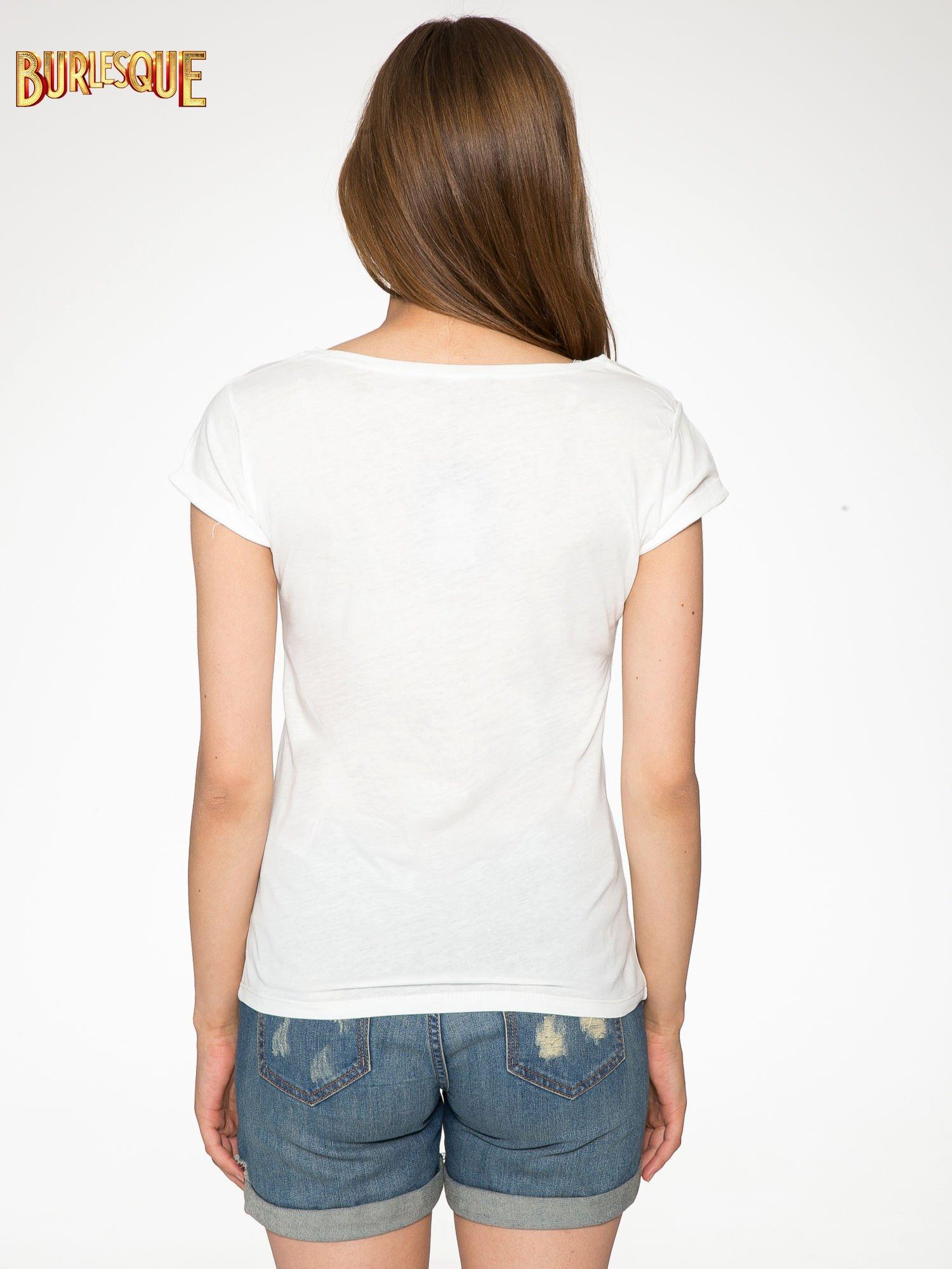 Ecru t-shirt z nadrukiem szczeniąt                                  zdj.                                  4