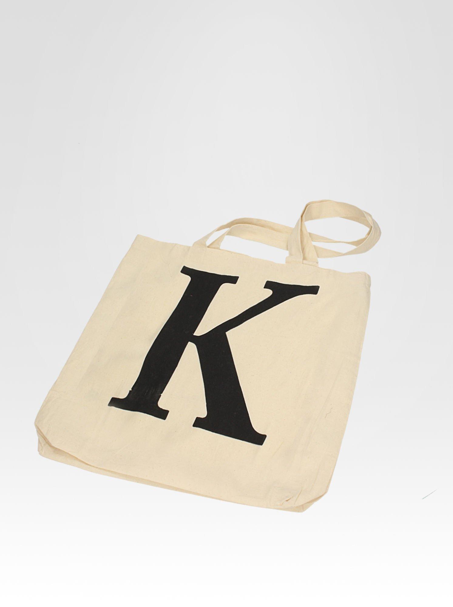 Ekotorba na zakupy z nadrukiem litery K                                  zdj.                                  6