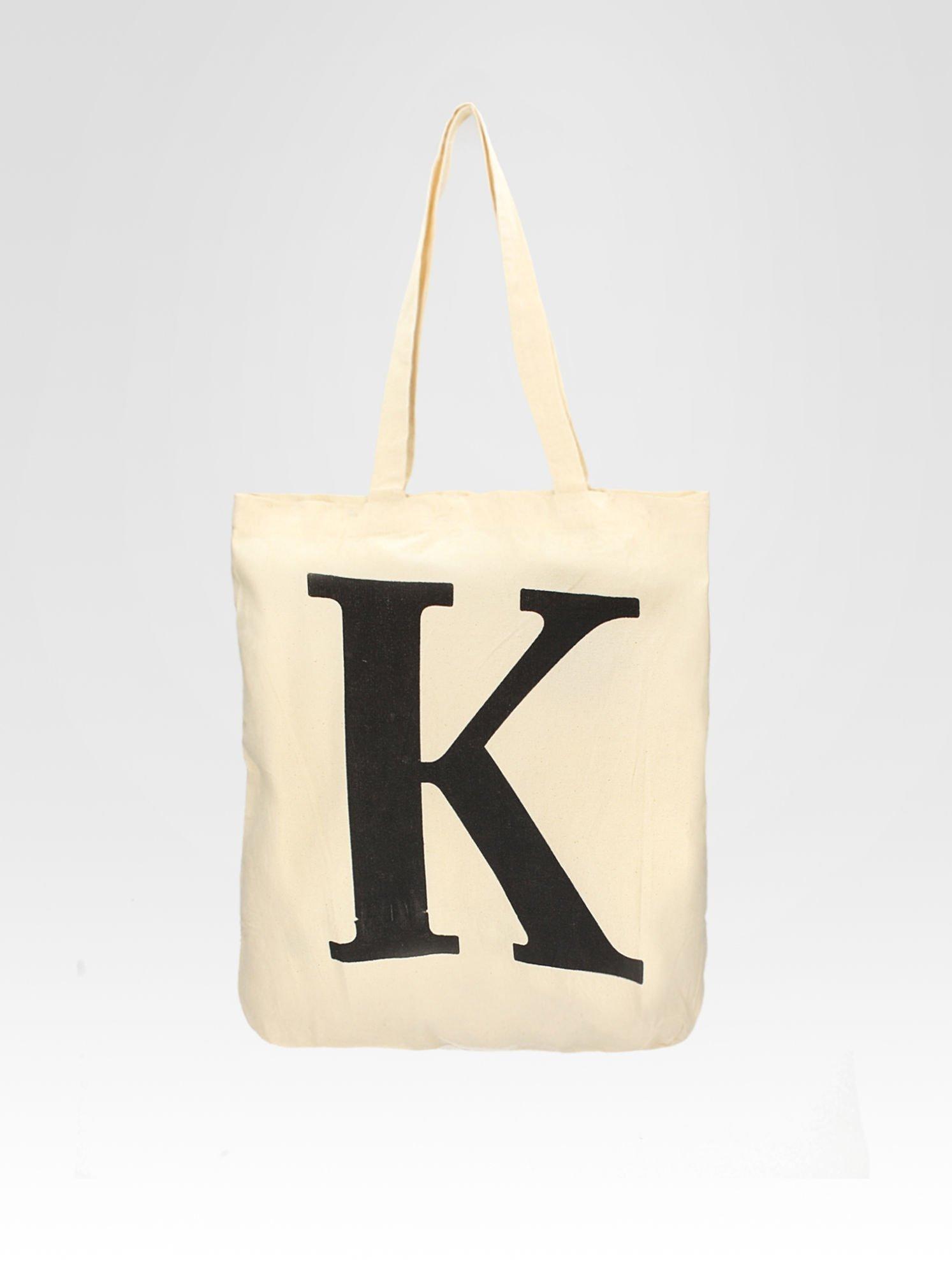 Ekotorba na zakupy z nadrukiem litery K                                  zdj.                                  5