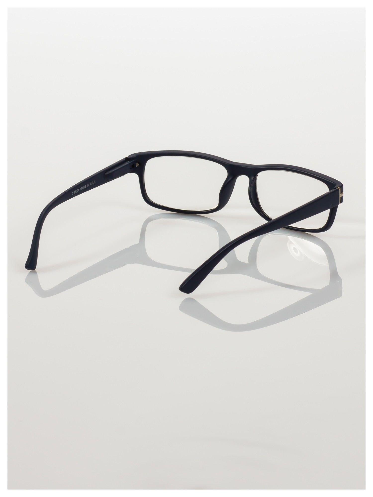Eleganckie czarne matowe korekcyjne okulary do czytania +2.5 D  z sytemem FLEX na zausznikach                                  zdj.                                  4