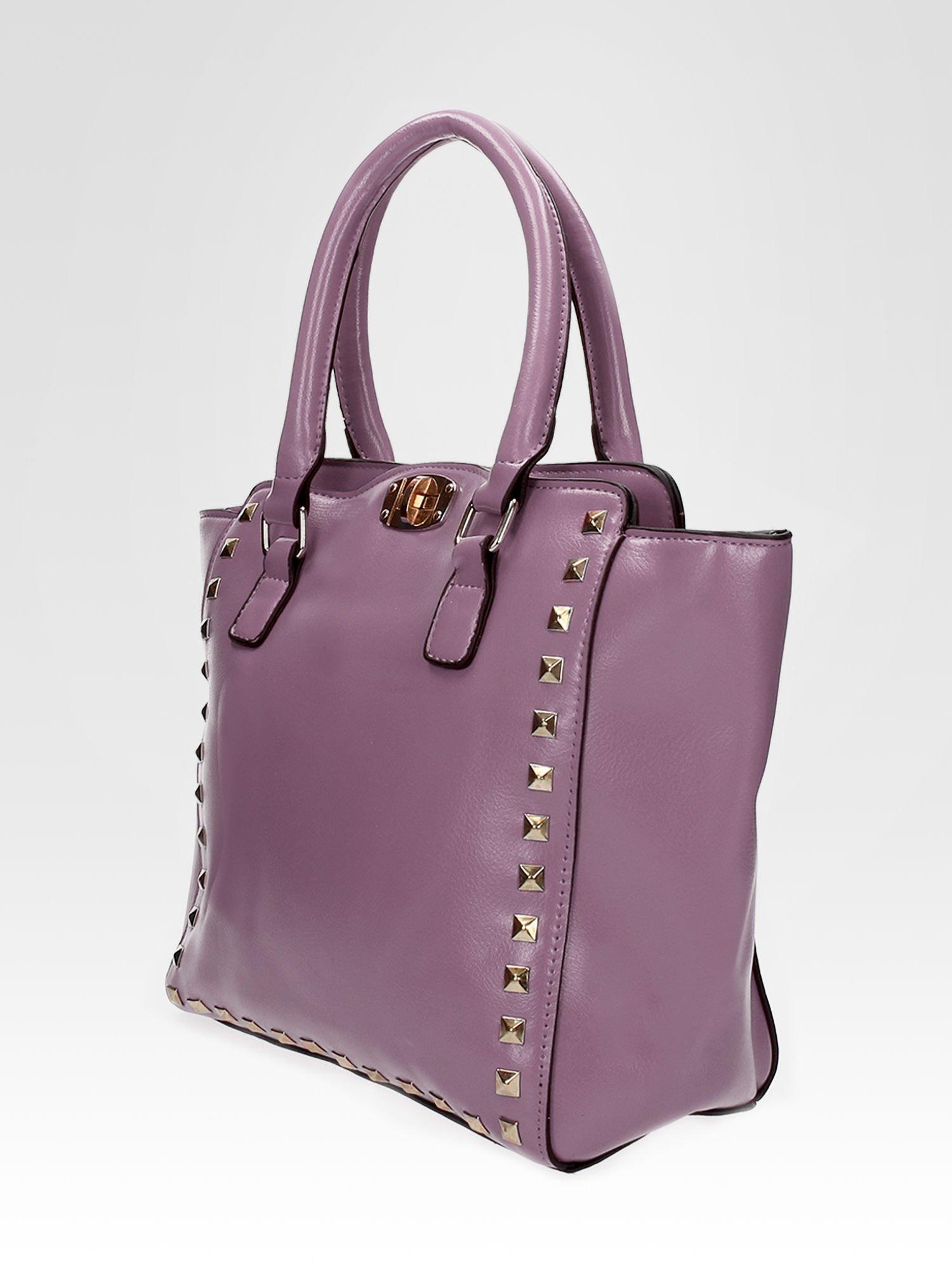 Fioletowa torebka na ramię z dżetami                                  zdj.                                  7