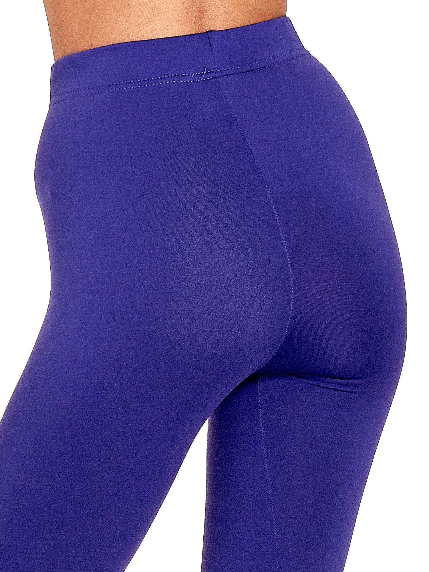 Fioletowe legginsy basic z lekkim ociepleniem                                  zdj.                                  7