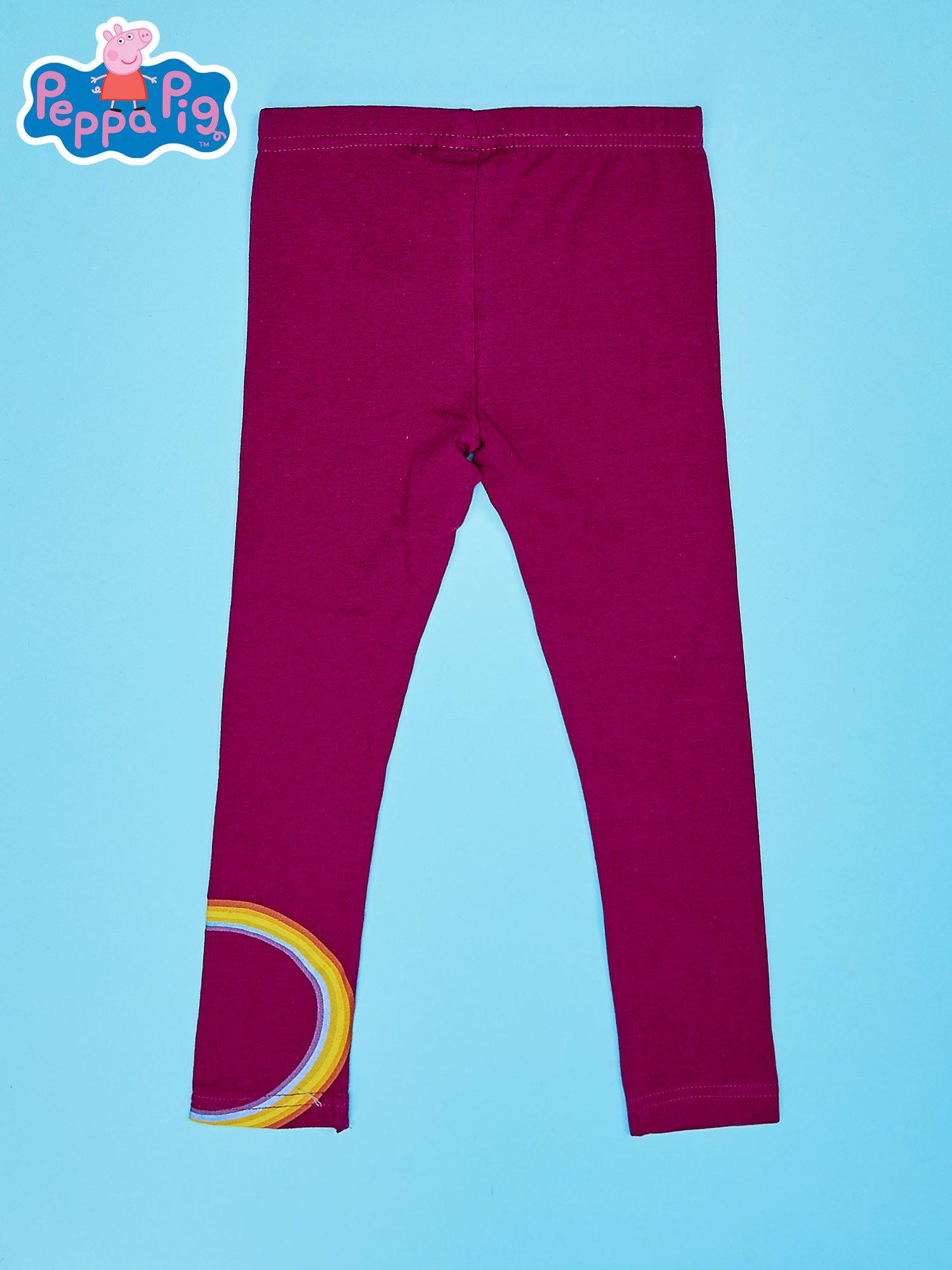 Fioletowe legginsy dla dziewczynki ŚWINKA PEPPA                                  zdj.                                  2