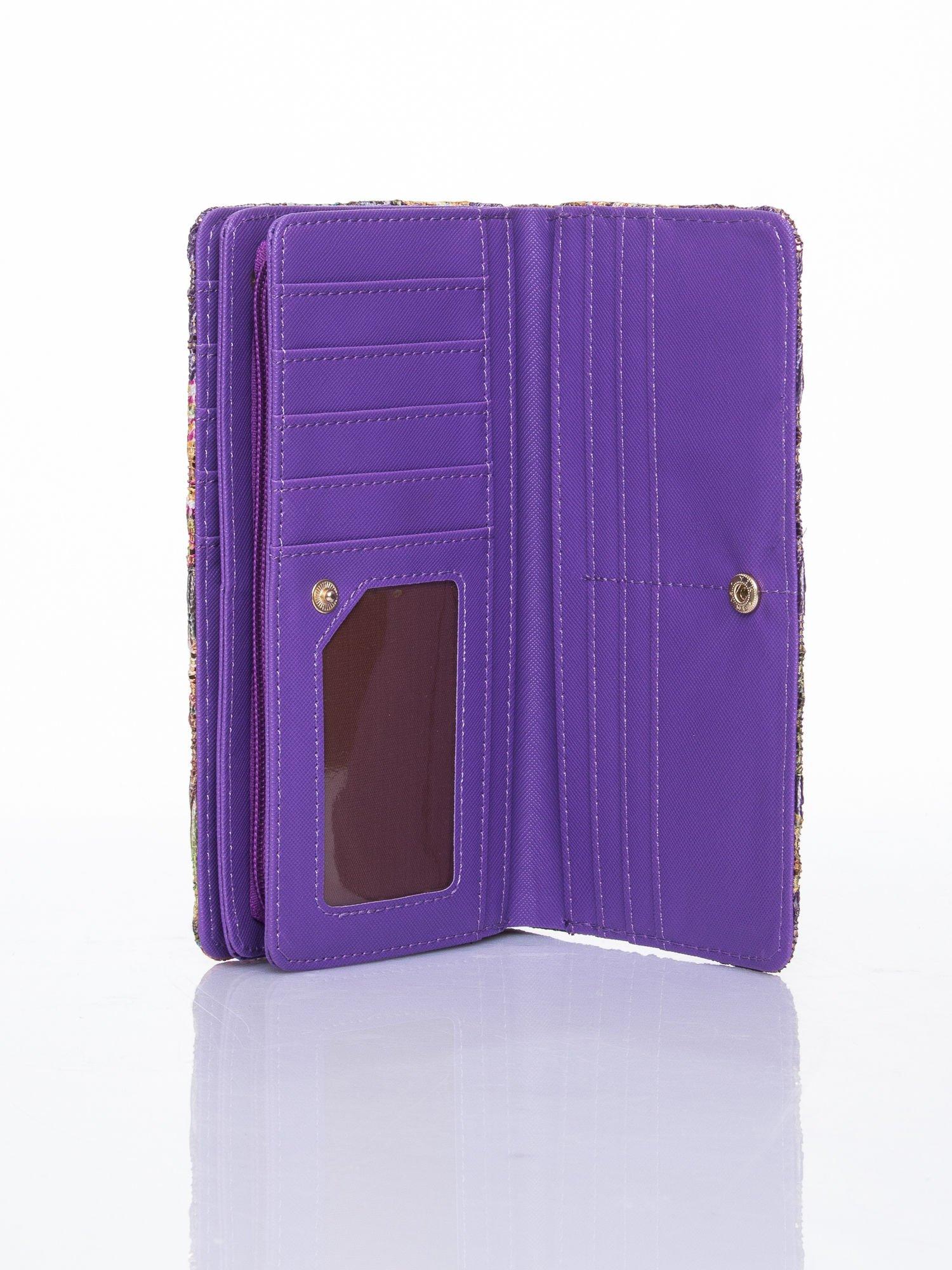 Fioletowy portfel z nadrukiem paisley                                  zdj.                                  5