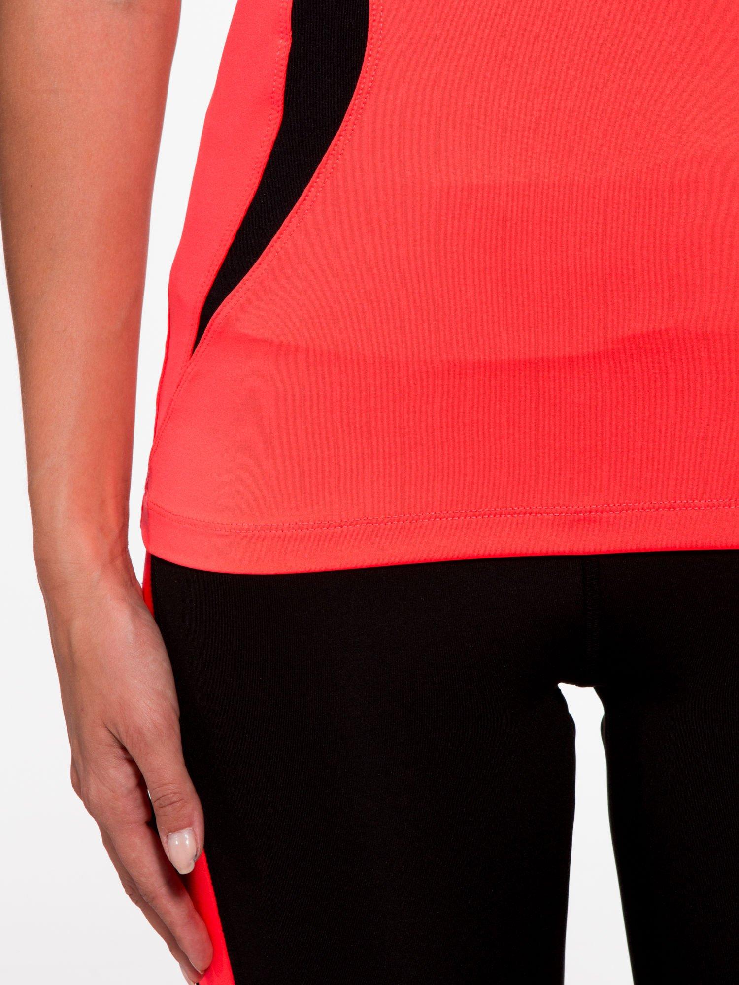 ca54b9374d9d49 6; Fluoróżowy termoaktywny t-shirt sportowy z siateczką przy dekolcie ♢ Performance  RUN ...