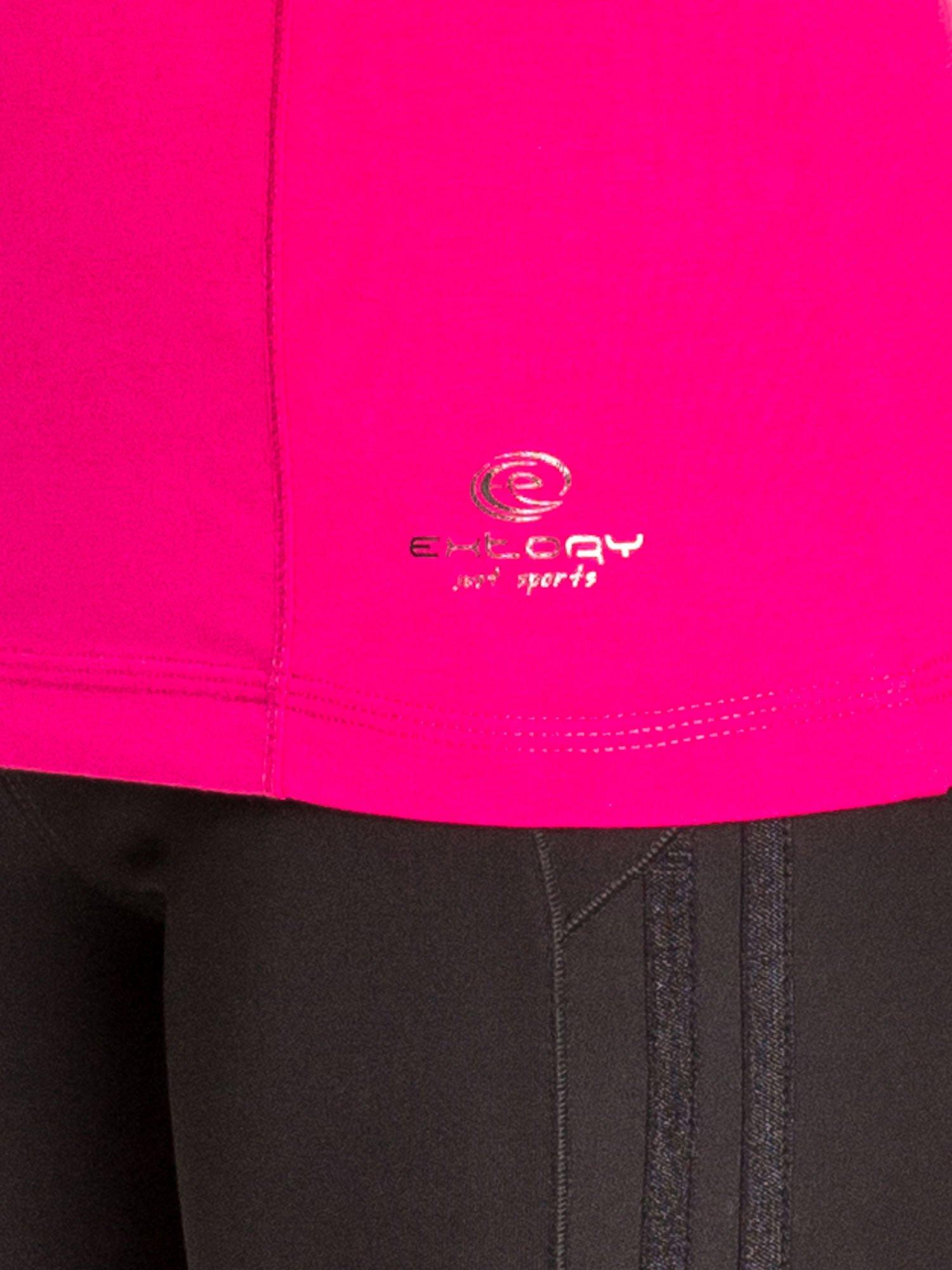 Fuksjowa bluzka sportowa basic PLUS SIZE                                  zdj.                                  5
