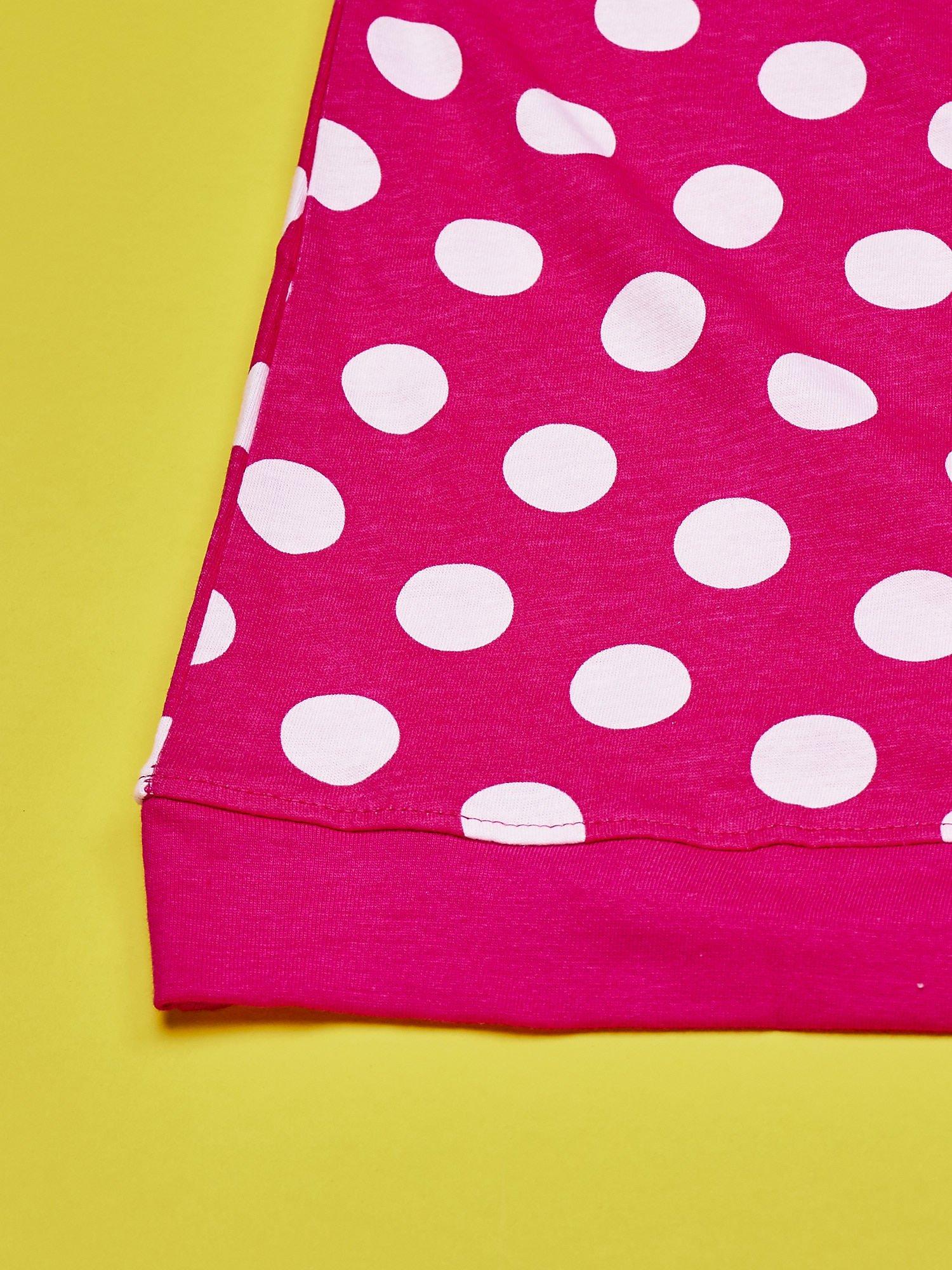 Fuksjowa sukienka w groszki dla dziewczynki FURBY                                  zdj.                                  4
