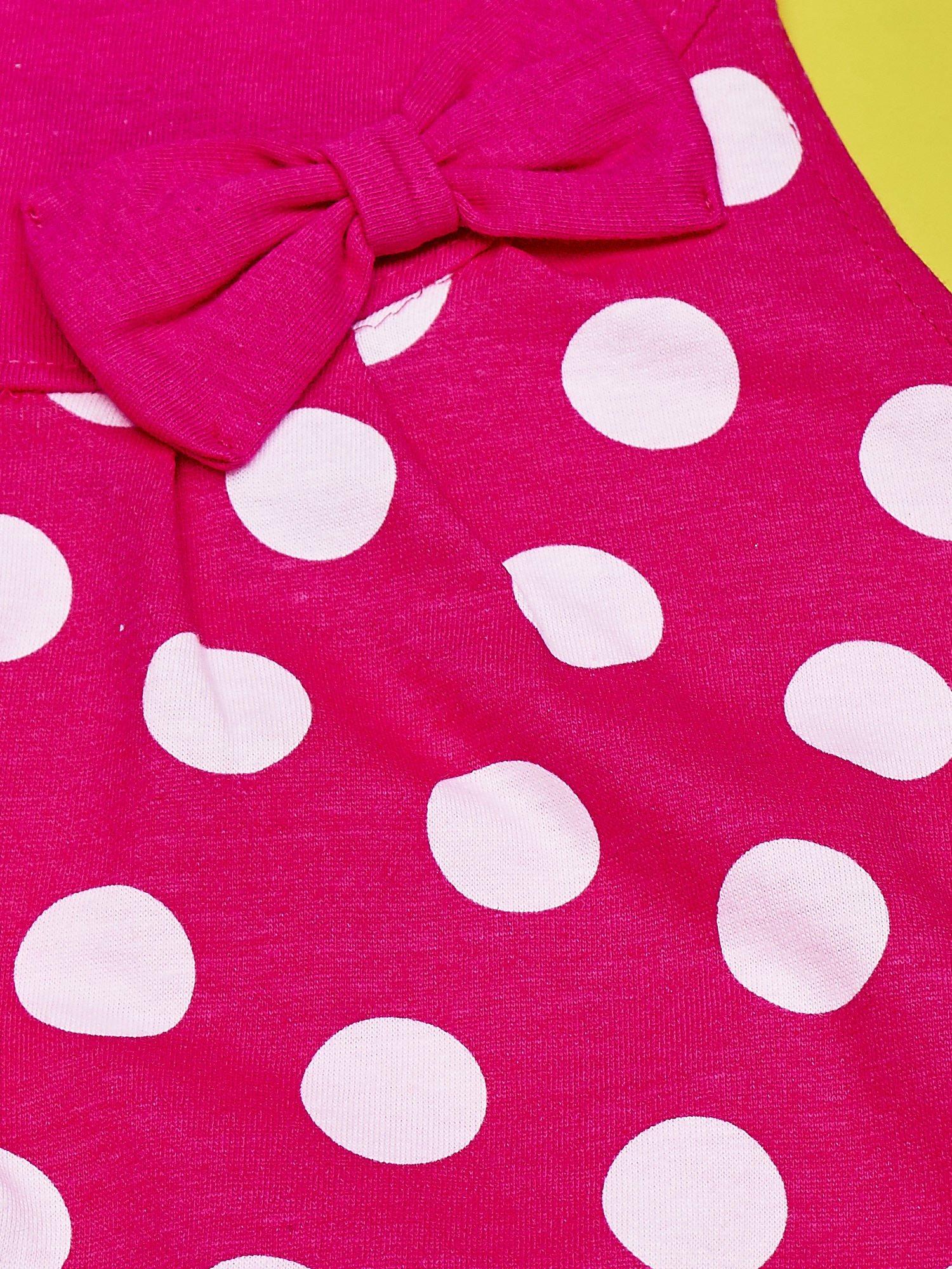 Fuksjowa sukienka w groszki dla dziewczynki FURBY                                  zdj.                                  5