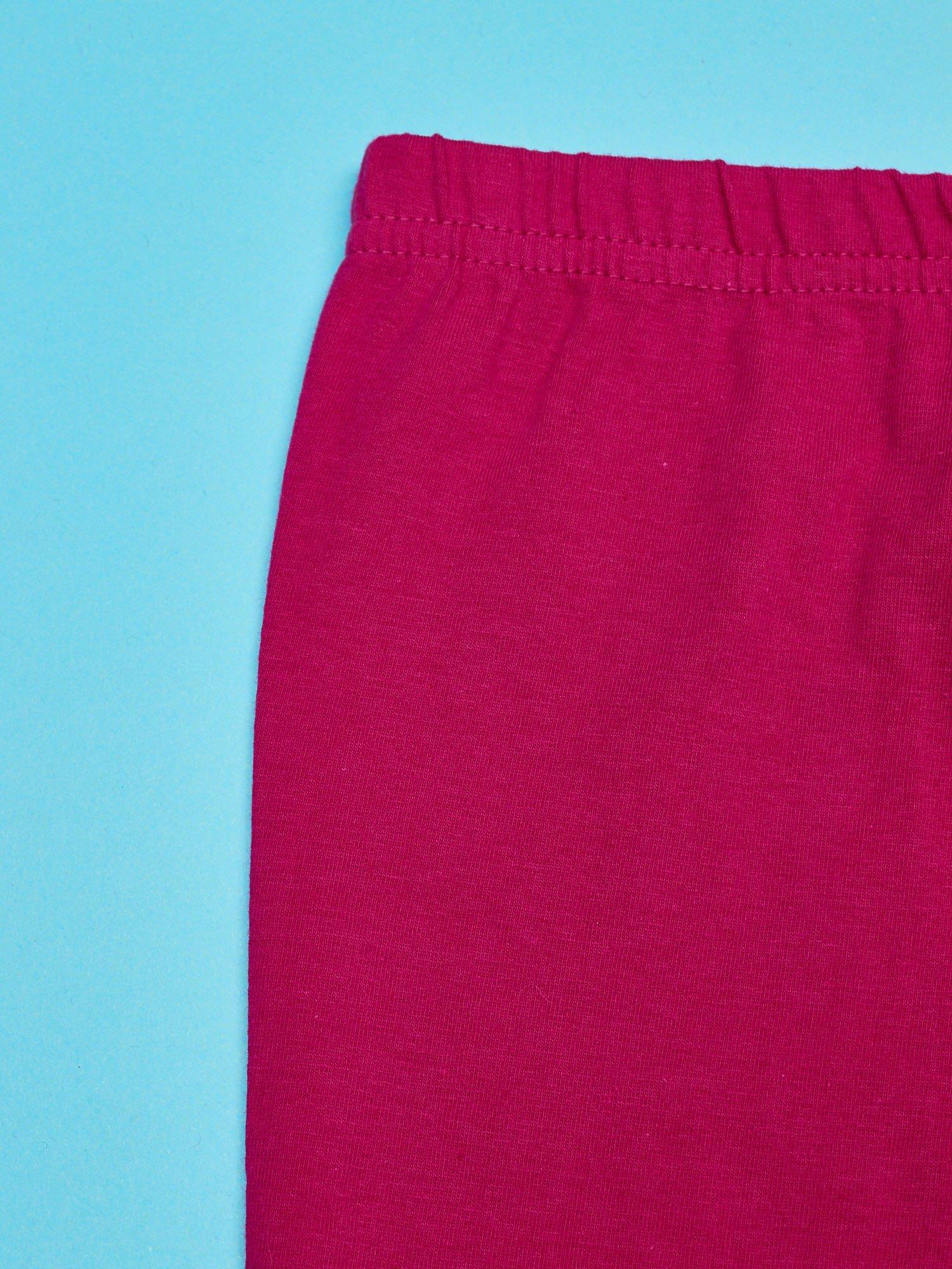 Fuksjowe legginsy dla dziewczynki z motywem HELLO KITTY                                  zdj.                                  3