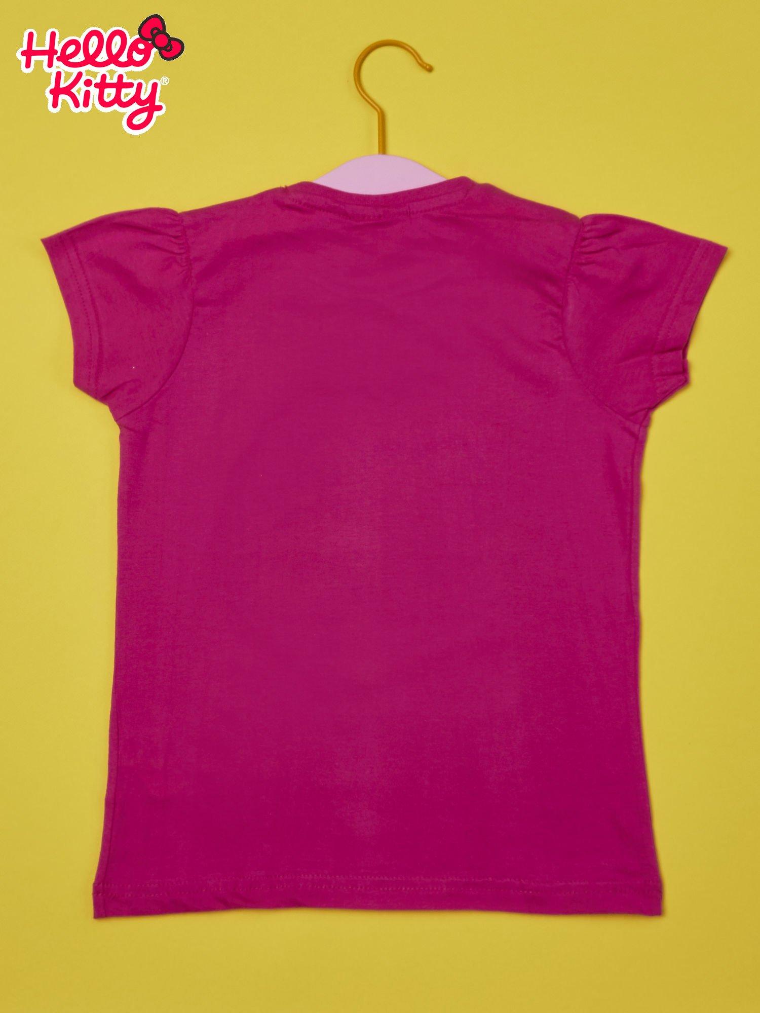 Fuksjowy t-shirt dla dziewczynki HELLO KITTY                                  zdj.                                  2