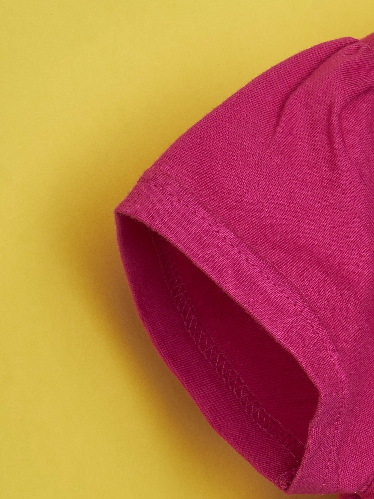 Fuksjowy t-shirt dla dziewczynki MONSTER HIGH                                  zdj.                                  6