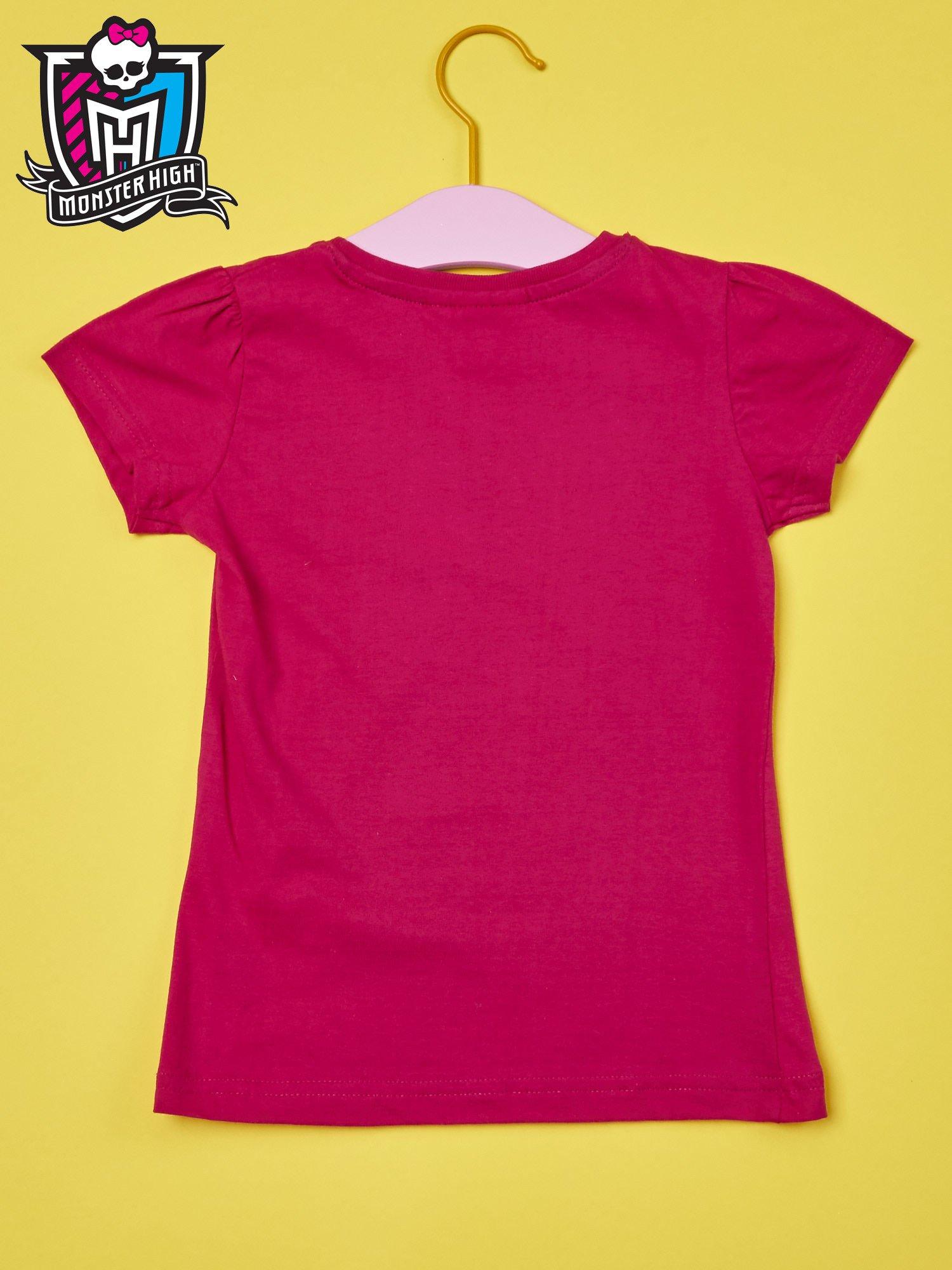 Fuksjowy t-shirt dla dziewczynki MONSTER HIGH                                  zdj.                                  2