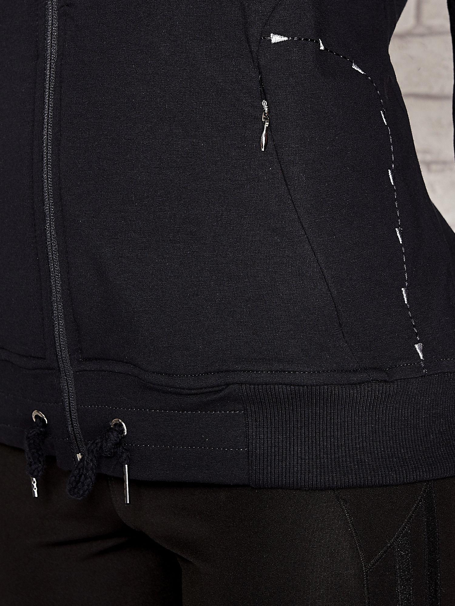 Granatowa bluza sportowa fitness ze wstawkami                                  zdj.                                  4