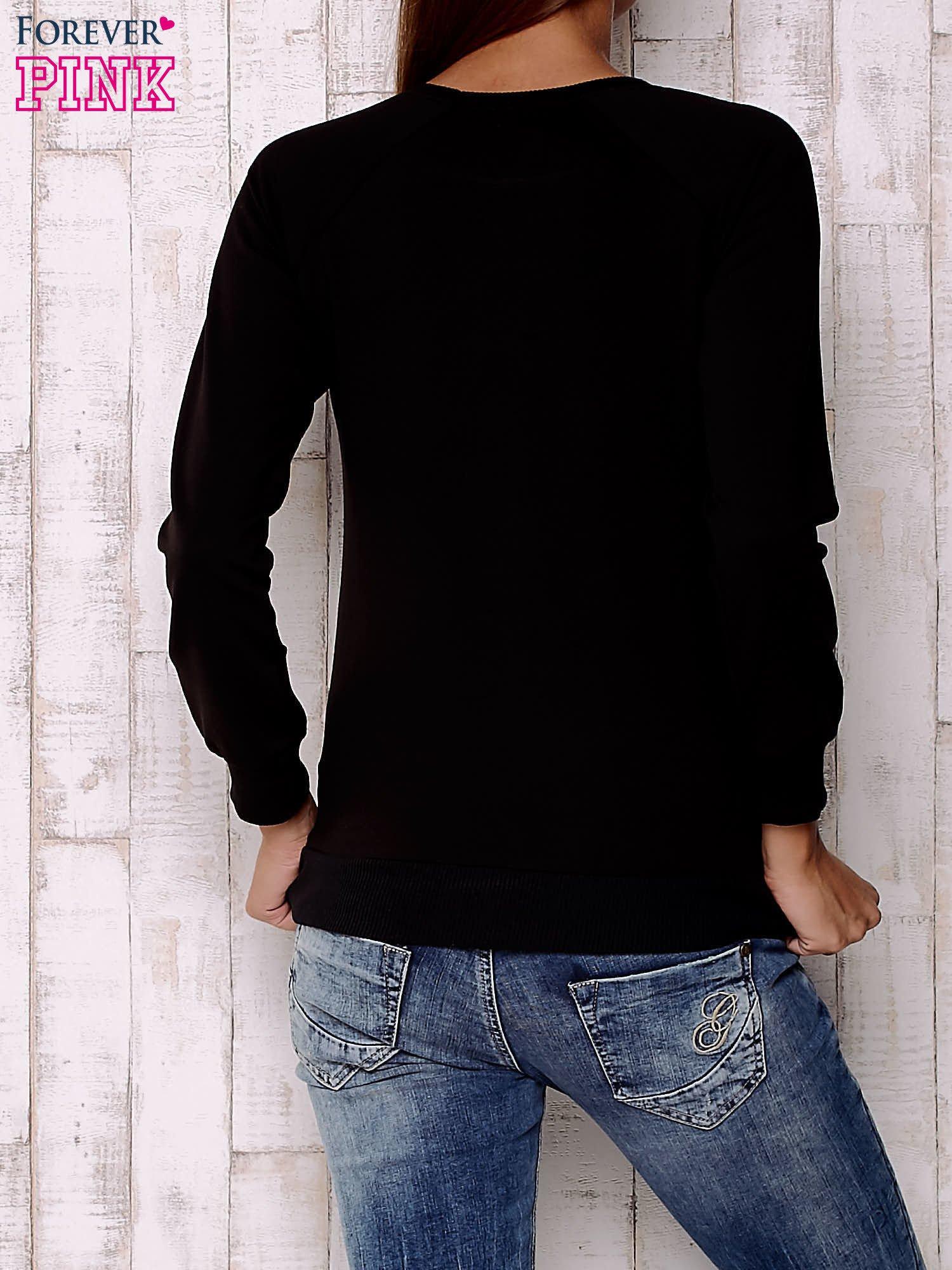 Granatowa bluza z kotami                                  zdj.                                  4