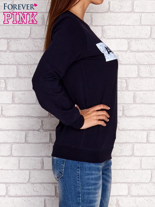 Granatowa bluza z napisem ARIGATO                                  zdj.                                  3