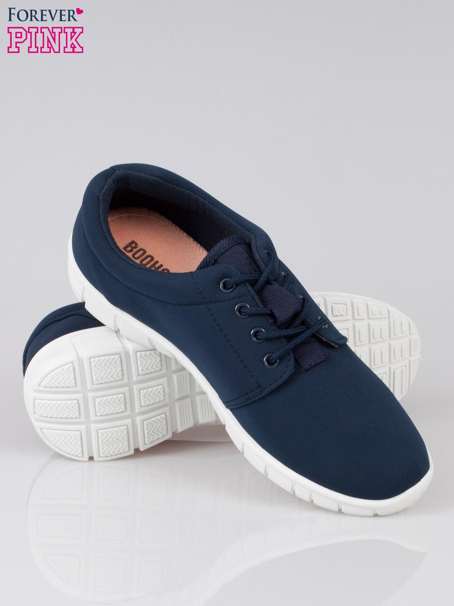 Granatowe buty sportowe textile Superior na podeszwie flex                                  zdj.                                  4