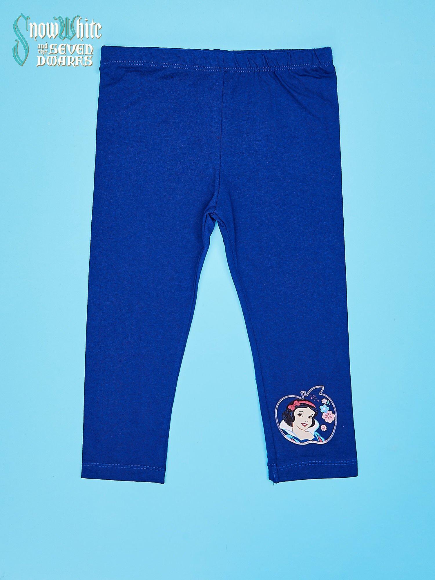 Granatowe legginsy dla dziewczynki KRÓLEWNA ŚNIEŻKA                                  zdj.                                  1