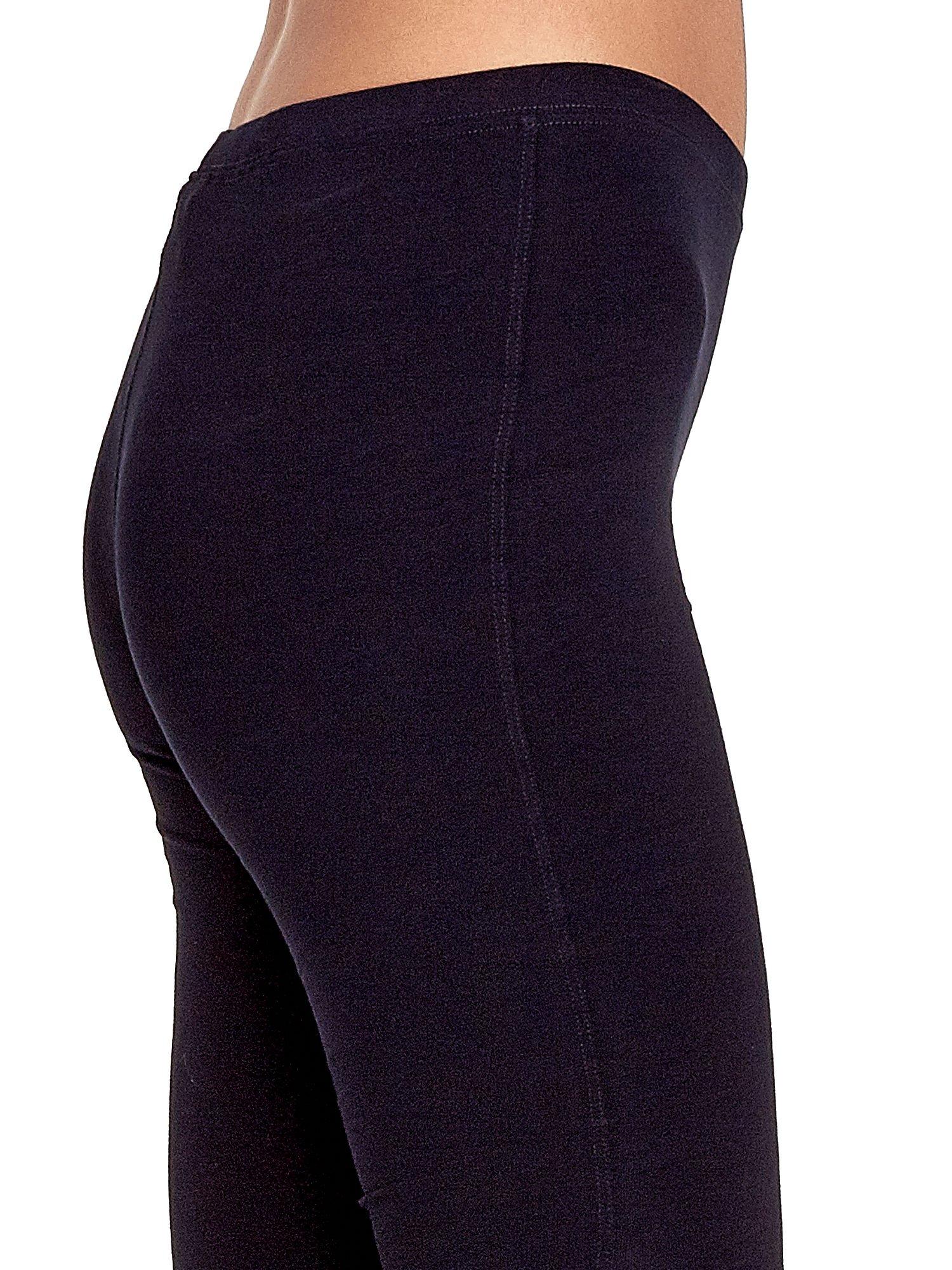 Granatowe legginsy sportowe ze szwem                                  zdj.                                  5