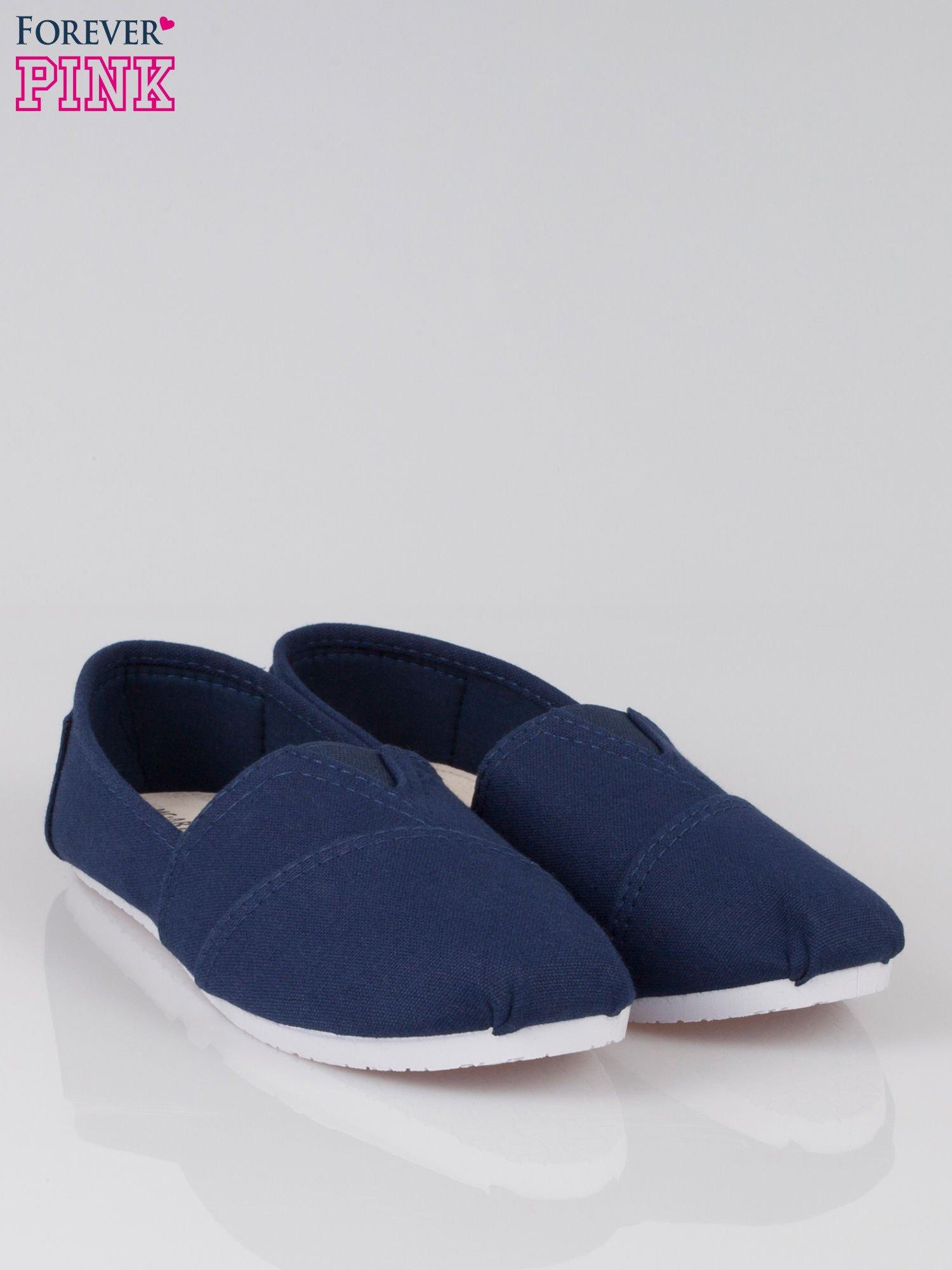 Granatowe lekkie buty slip on                                  zdj.                                  2