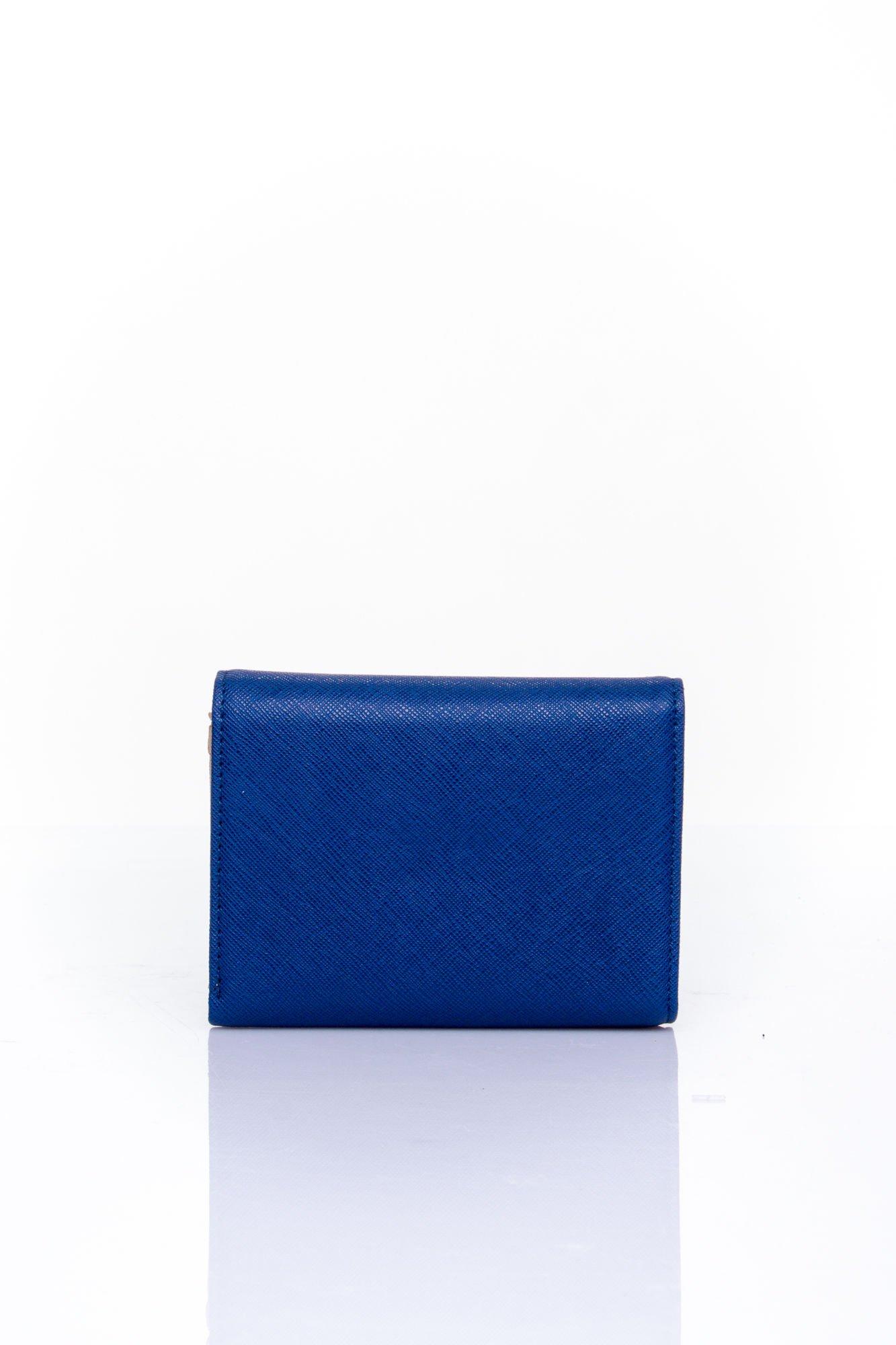 Granatowy portfel z kokardką                                  zdj.                                  2