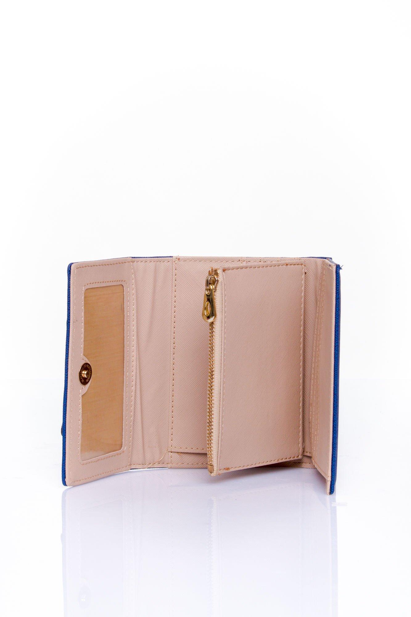Granatowy portfel z kokardką                                  zdj.                                  5