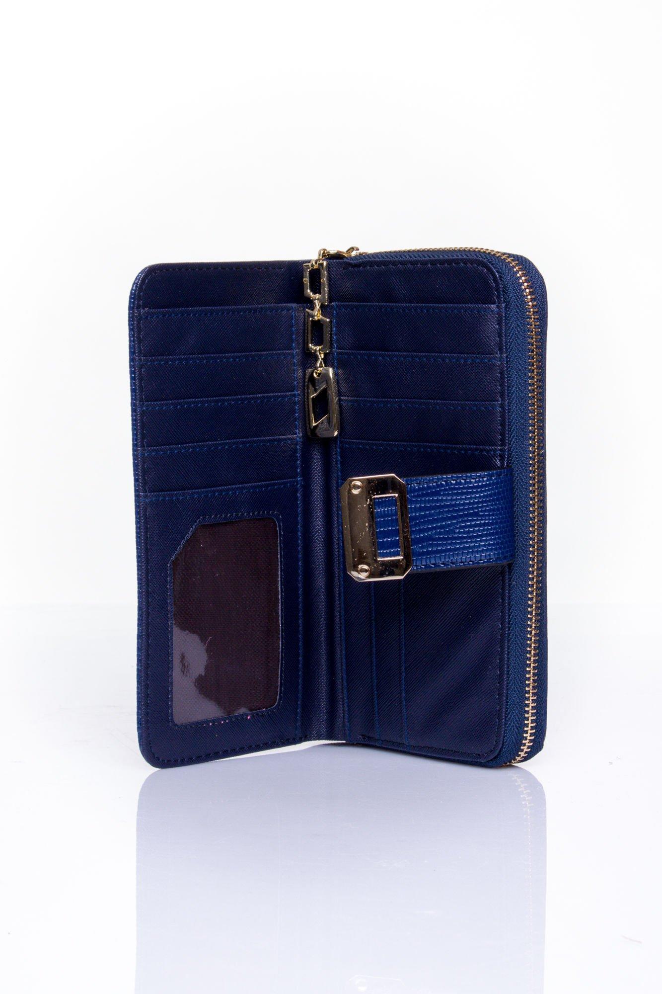 Granatowy portfel ze złotą klamerką                                  zdj.                                  4