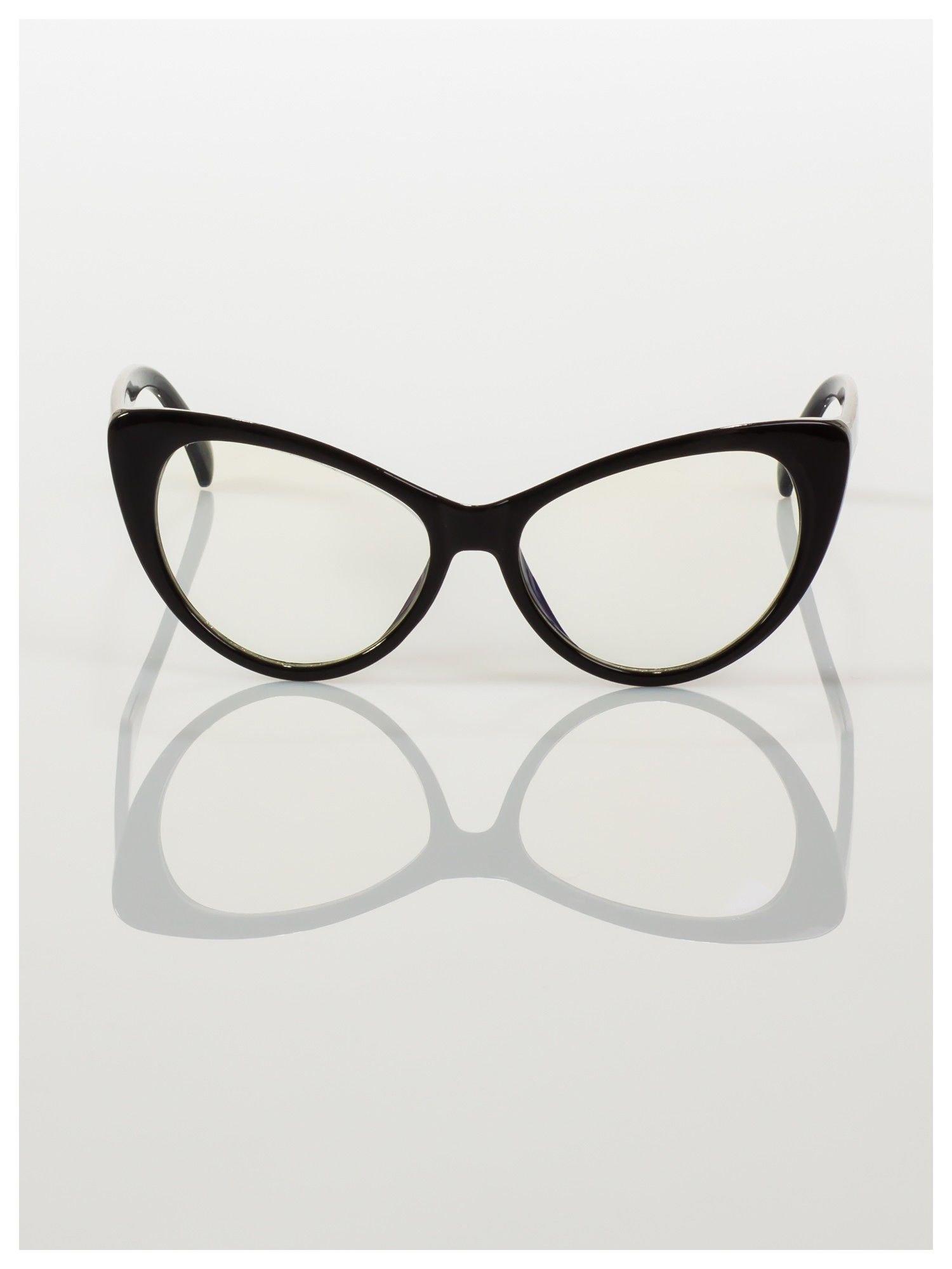 HIT 2016 Modne okulary zerówki typu KOCIE OCZY w stylu Marlin Monroe- soczewki ANTYREFLEKS+system FLEX na zausznikach                                  zdj.                                  2