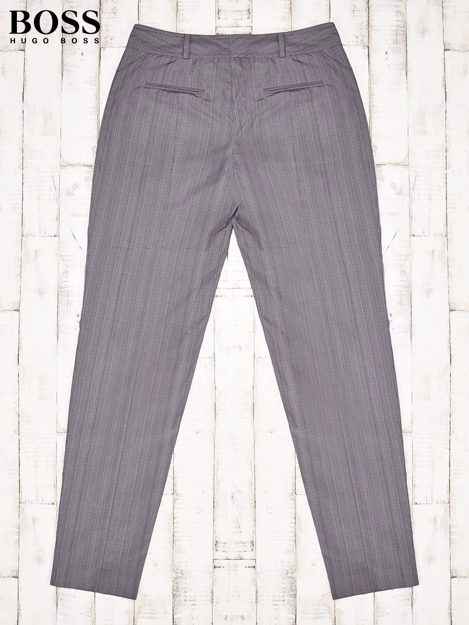 4490bfdbf68c3 HUGO BOSS Szare eleganckie spodnie męskie - Mężczyźni Spodnie z ...