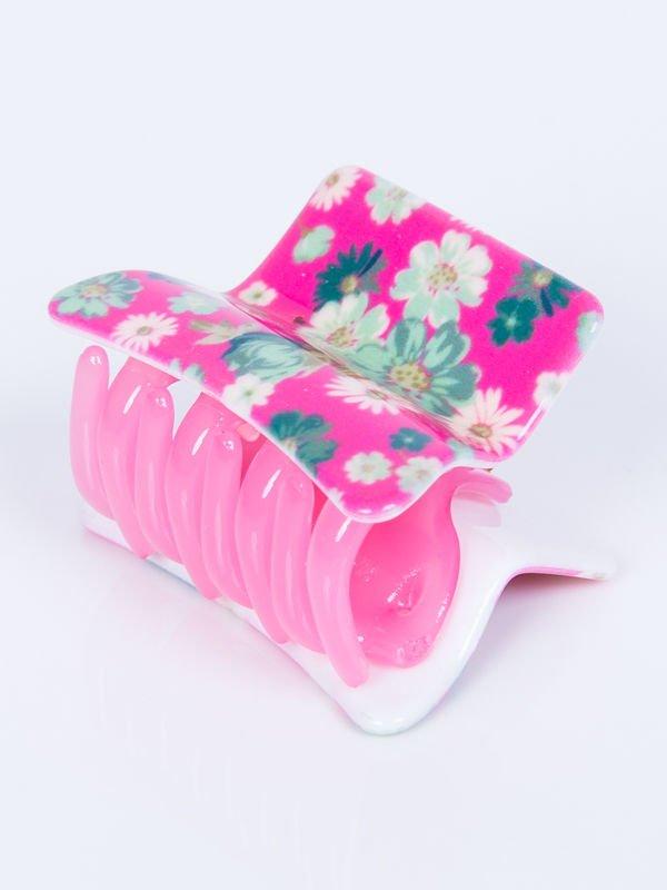 510c92ac4bb07e INCA Klamra do włosów różowa w kwiaty 5 cm - Akcesoria Spinki - sklep  eButik.pl