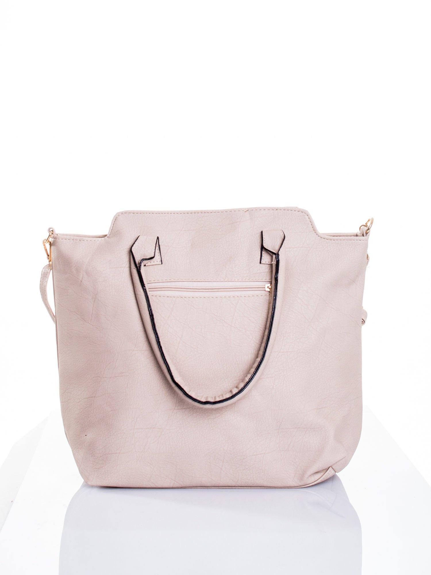 Jasnobeżowa torba shopper bag                                  zdj.                                  3
