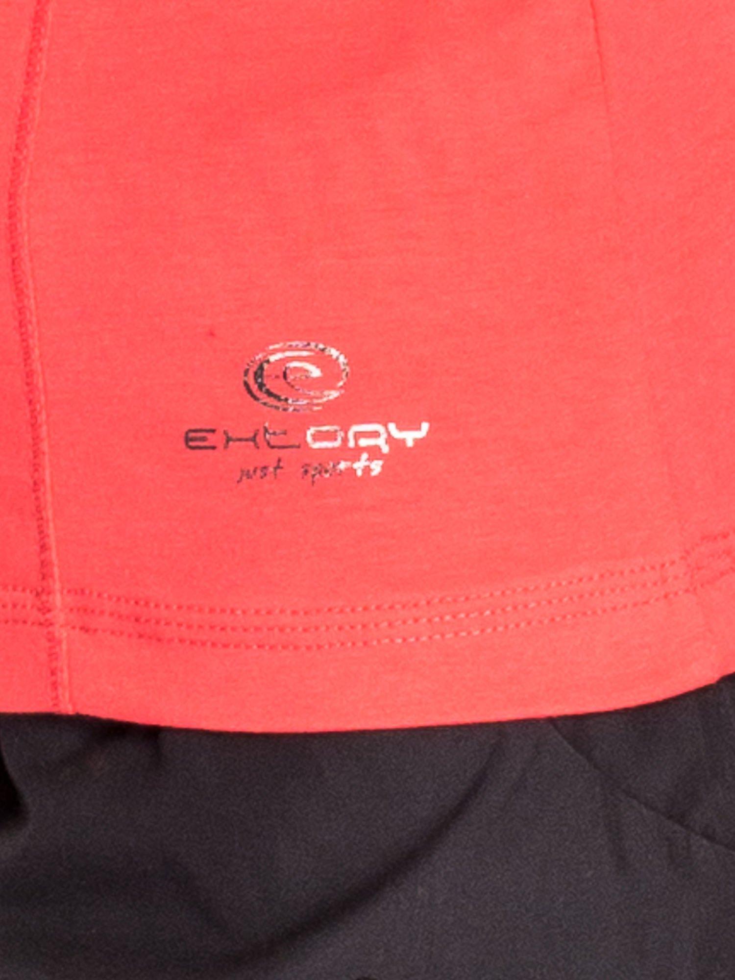 Jasnoczerwona bluzka sportowa basic PLUS SIZE                                  zdj.                                  5