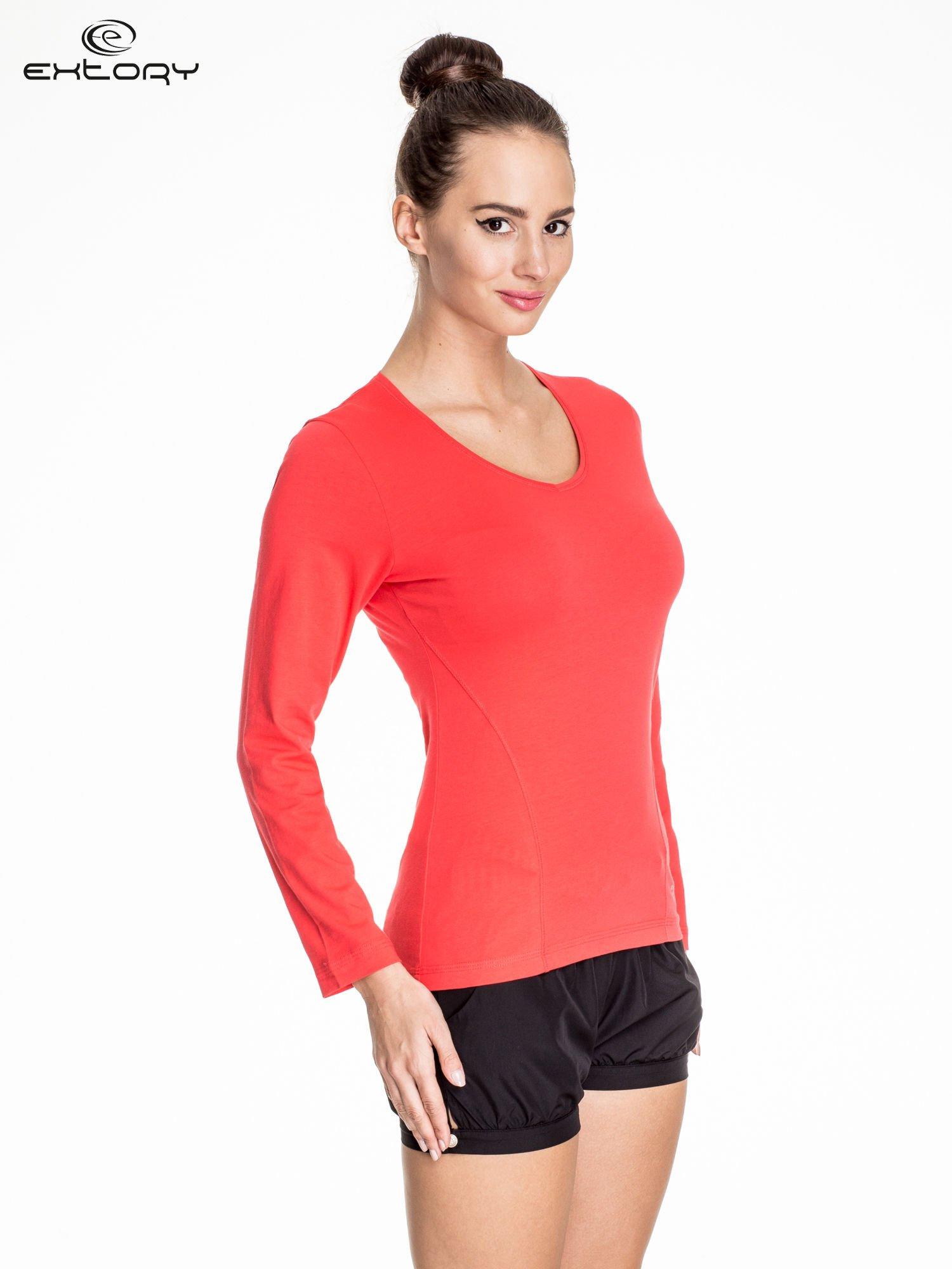 Jasnoczerwona bluzka sportowa basic PLUS SIZE                                  zdj.                                  3