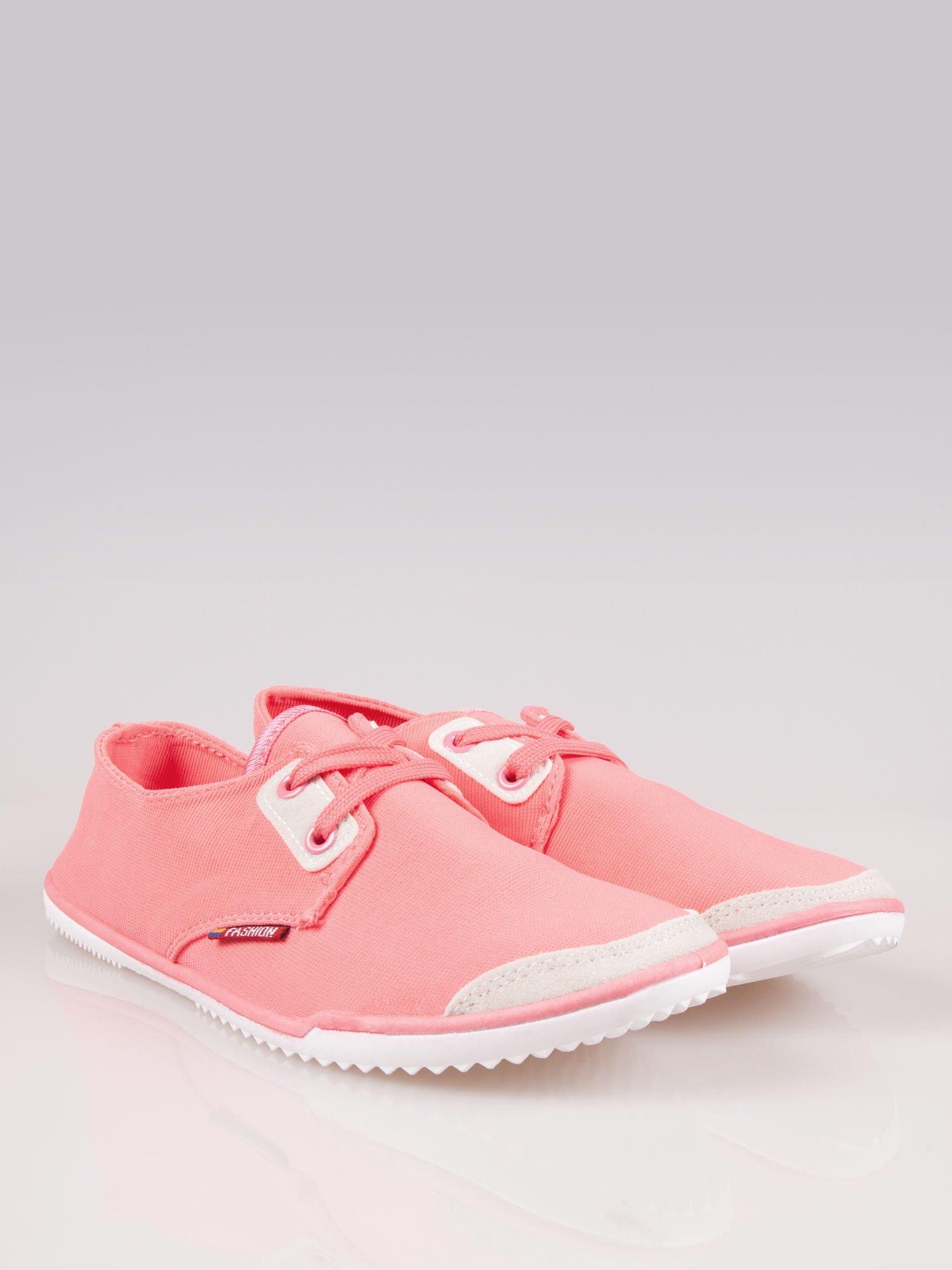 Jasnoczerwone miękkie buty casualowe damskie                                  zdj.                                  2