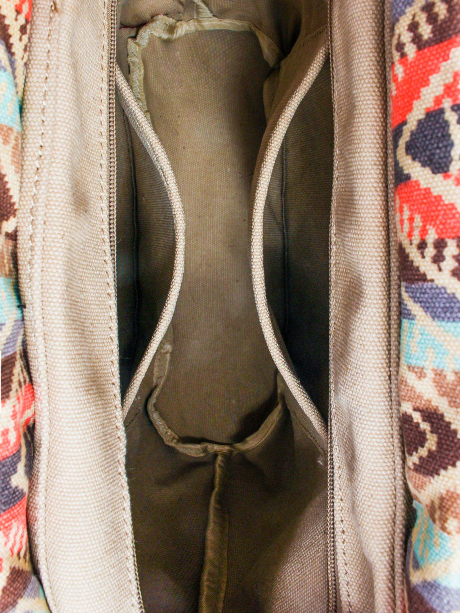 Jasnoniebieska torba gumowa z motywem azteckim                                  zdj.                                  7