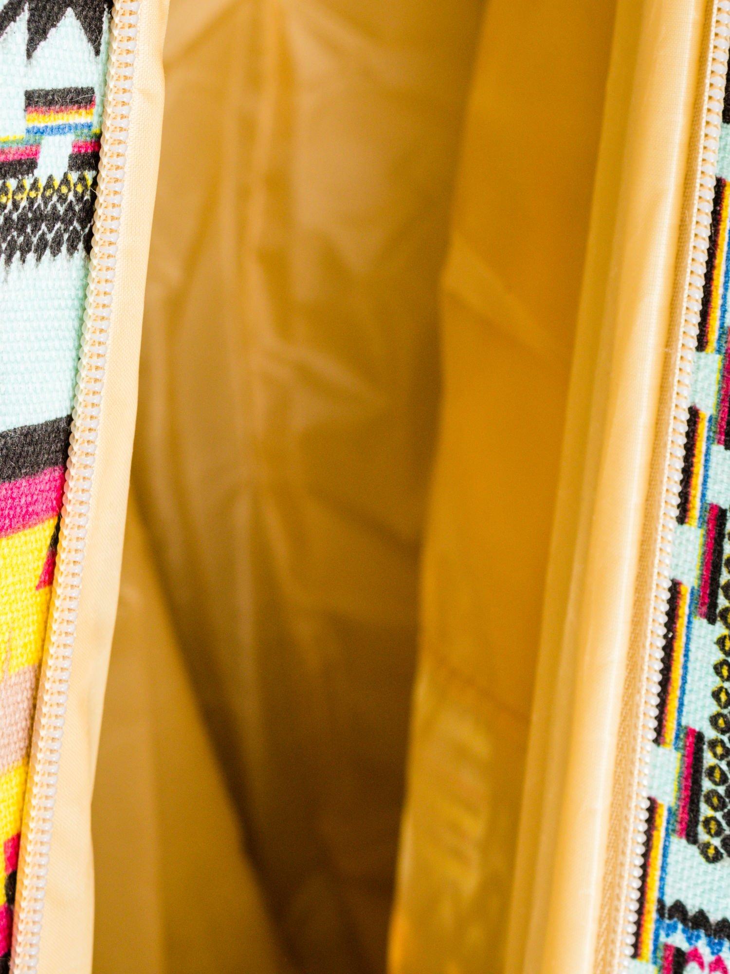Jasnoniebieska torba plażowa w azteckie wzory                                  zdj.                                  10