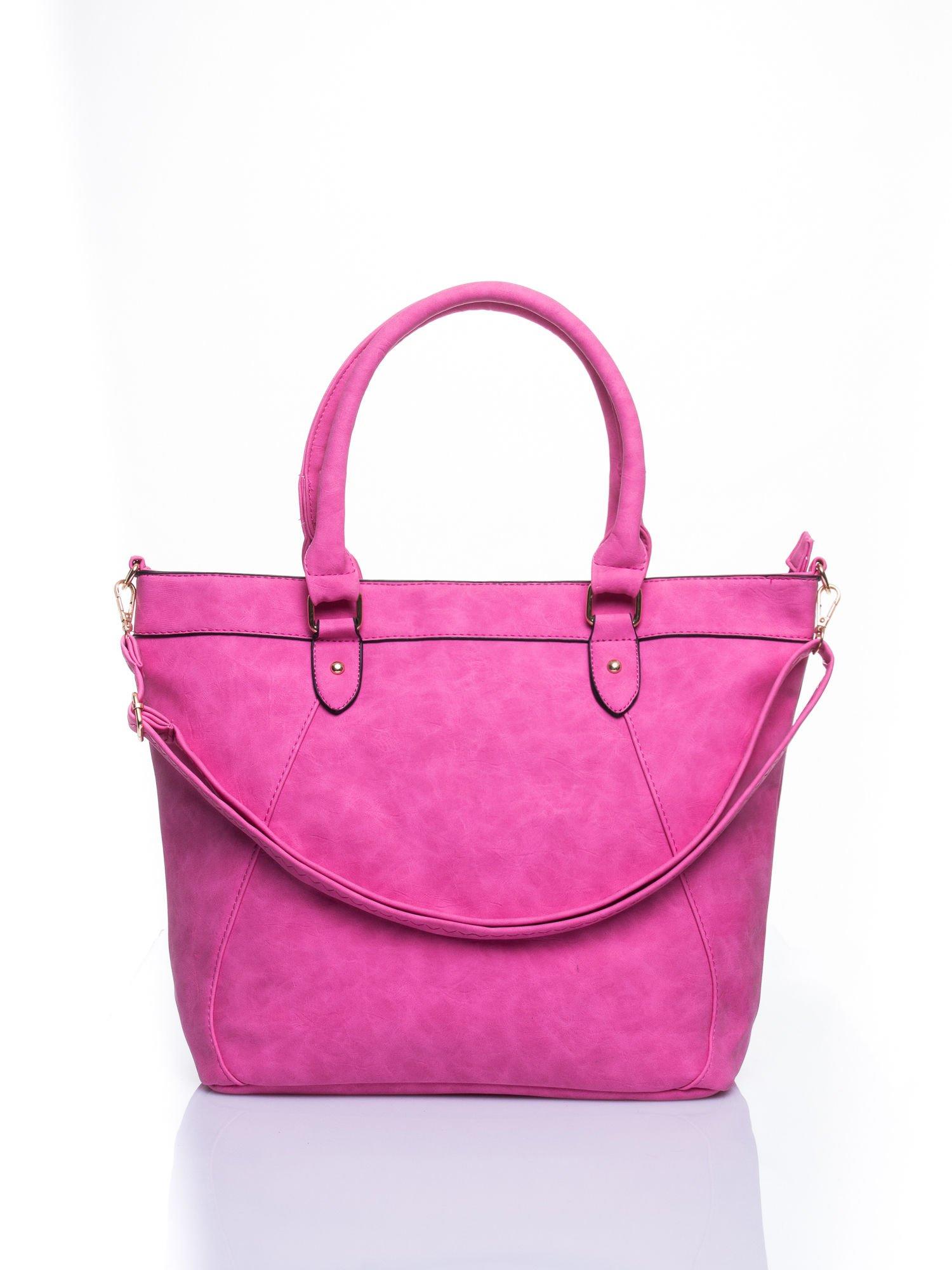 Jasnoróżoa torba city bag na ramię                                  zdj.                                  1