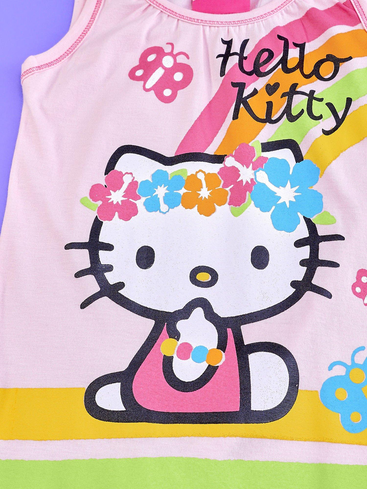 Jasnoróżowa sukienka dla dziewczynki bez rękawów HELLO KITTY                                   zdj.                                  4