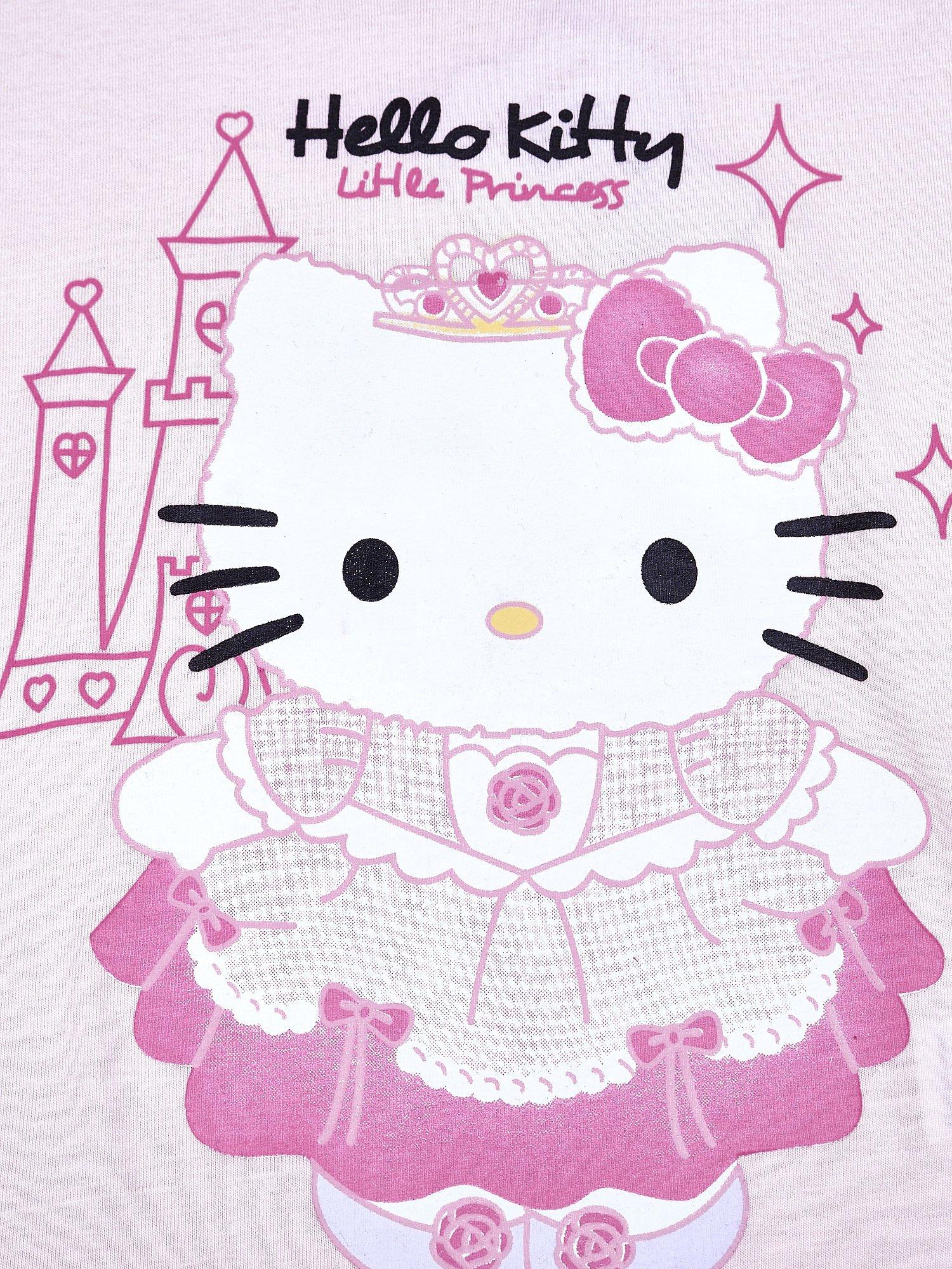 Jasnoróżowy t-shirt dla dziewczynki HELLO KITTY                                  zdj.                                  4