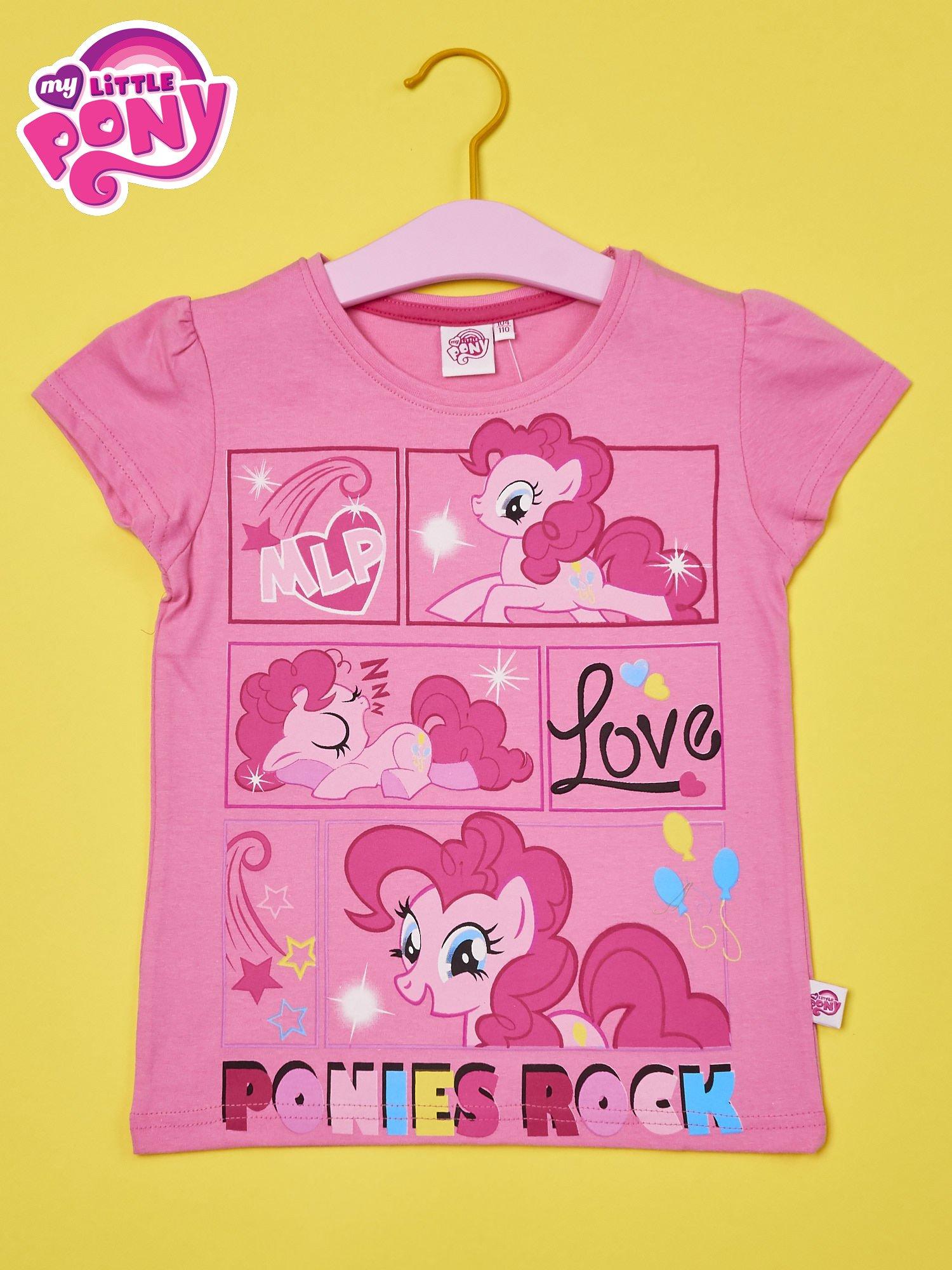 Jasnoróżowy t-shirt dla dziewczynki MY LITTLE PONY                                  zdj.                                  1