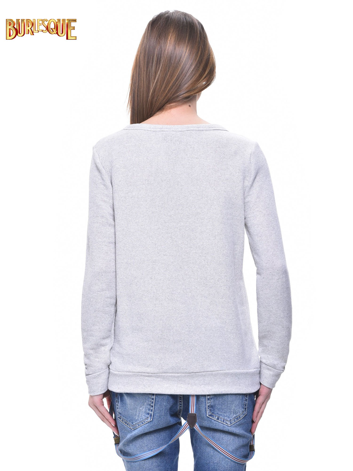 Jasnoszara bluza damska z sówkami                                  zdj.                                  4