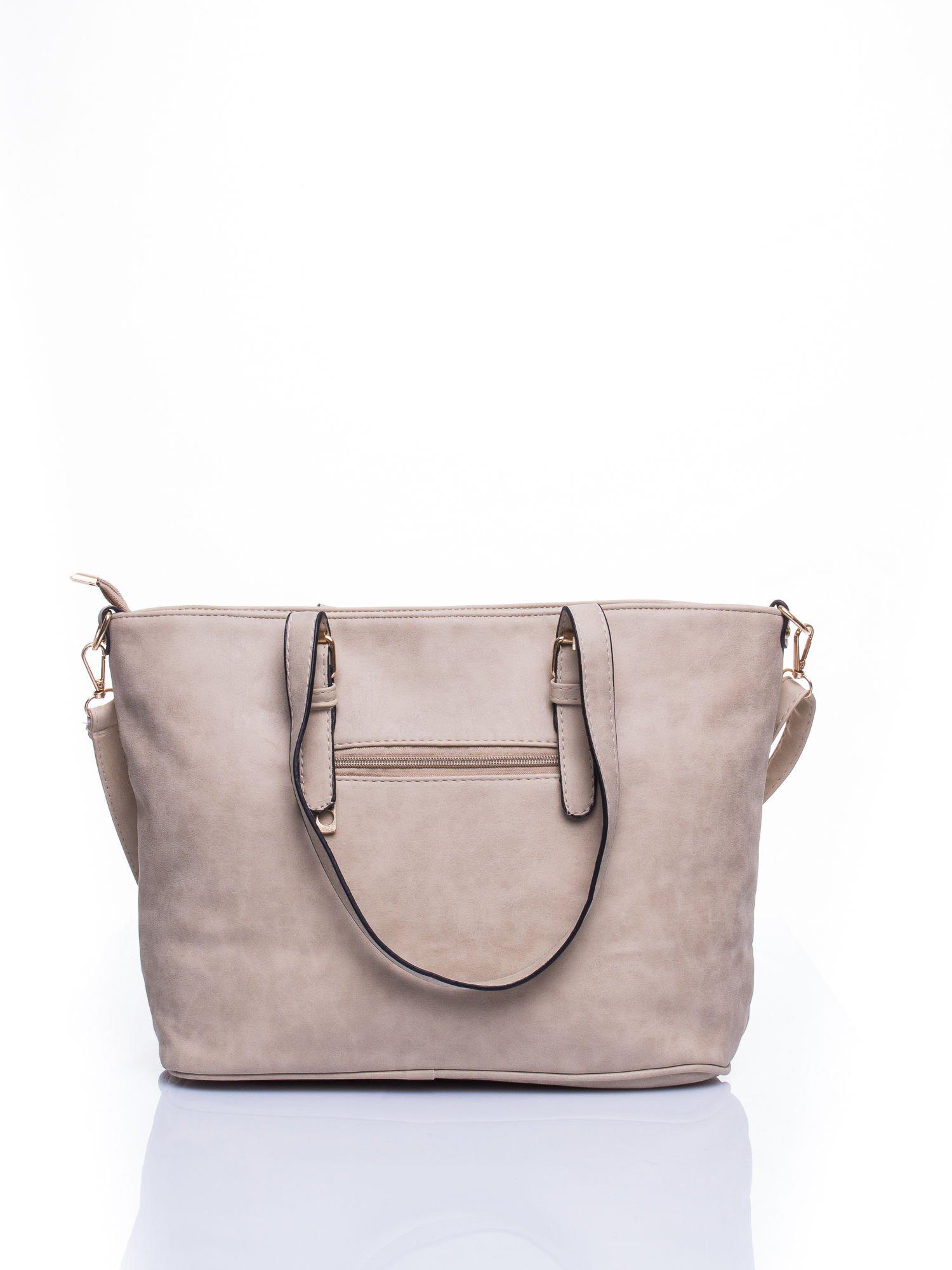 Jasnoszara torba shopper bag z zawieszką                                  zdj.                                  2