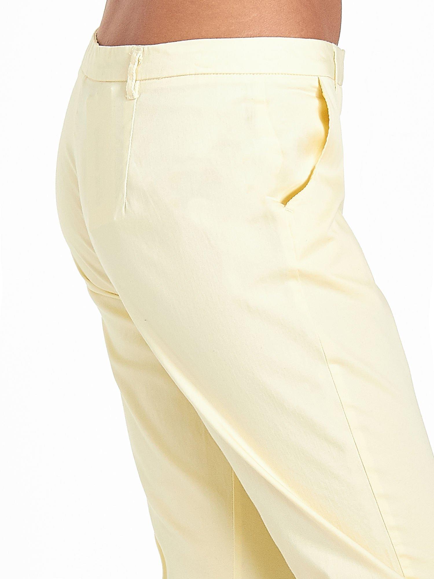 Jasnożółte eleganckie spodnie za kolano                                  zdj.                                  6