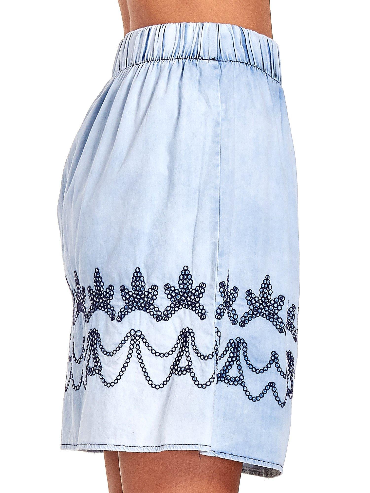 Jeansowa spódnica z haftem                                  zdj.                                  7