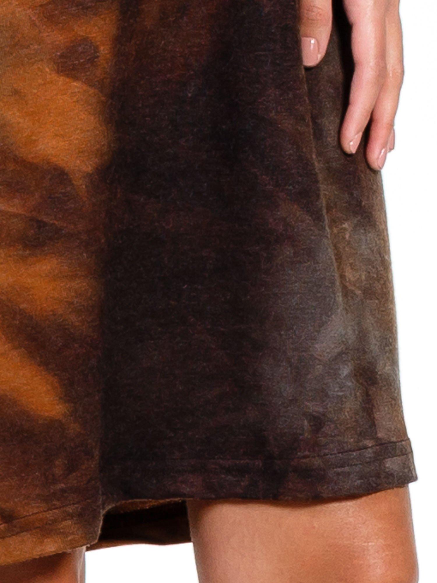 Kawowa sukienka z rękawem 3/4                                  zdj.                                  6
