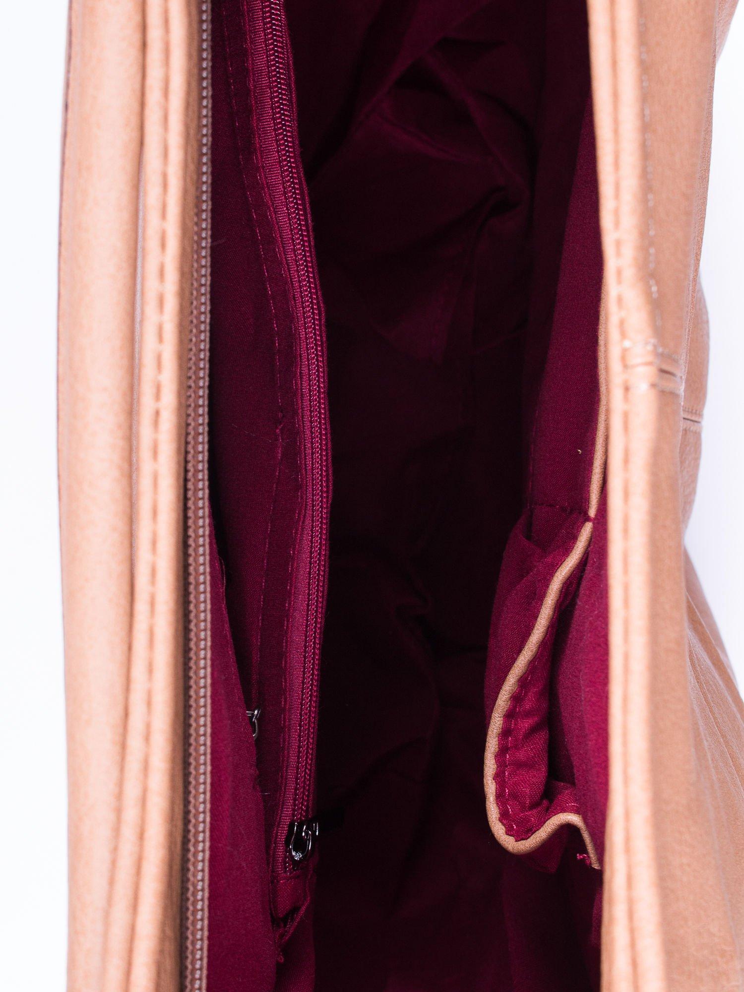 Khaki torba hobo z suwakami po bokach                                  zdj.                                  4