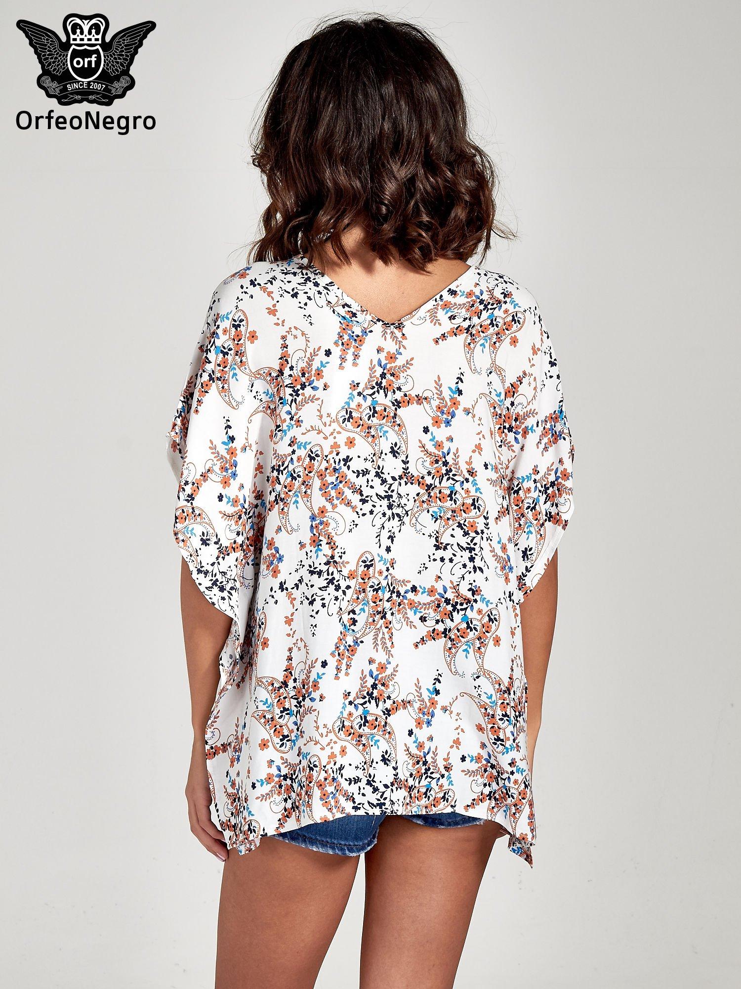 Koszula o kroju oversize we wzór w łączkę                                  zdj.                                  4