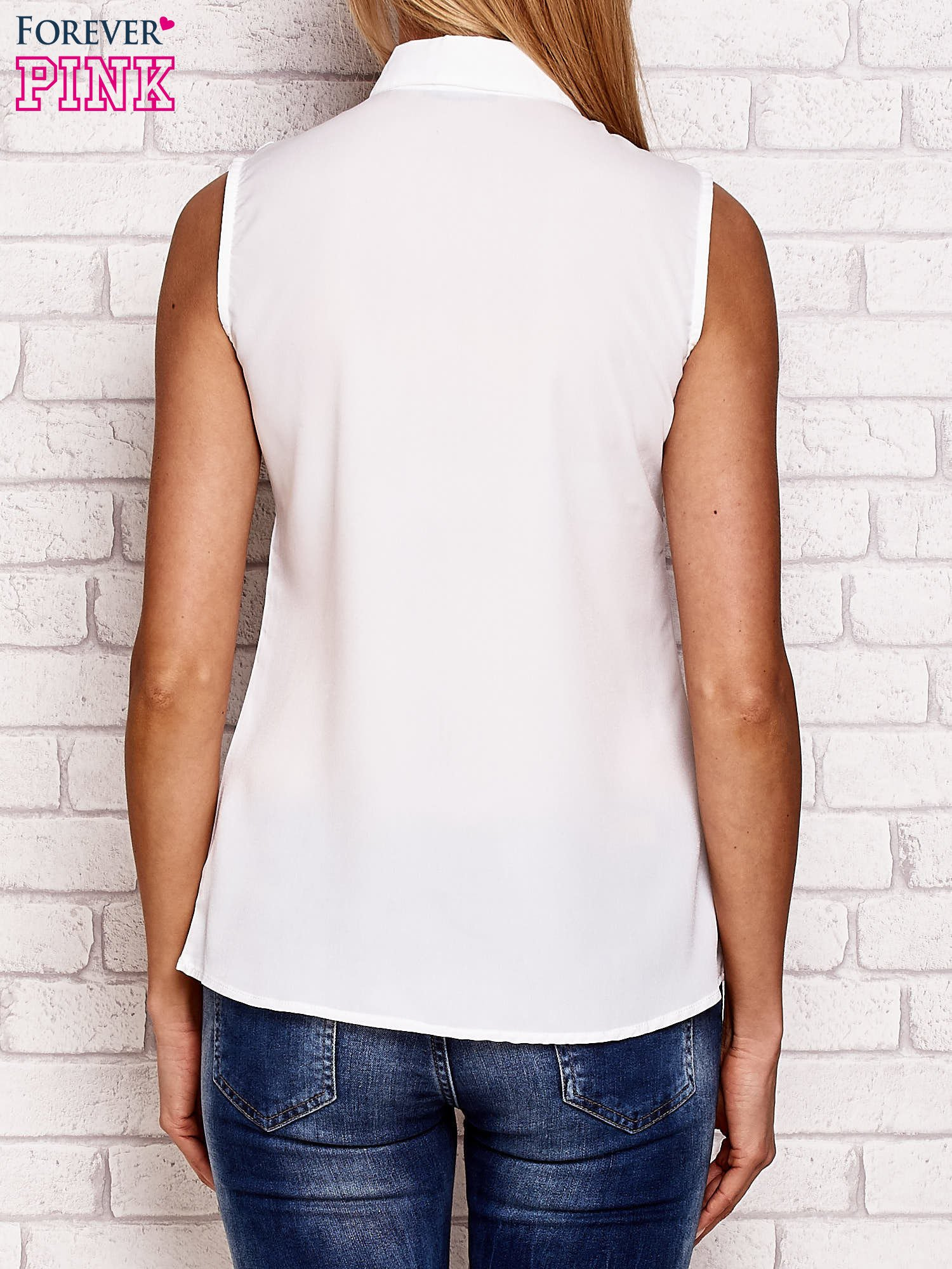 Koszula z rysunkowym nadrukiem biała