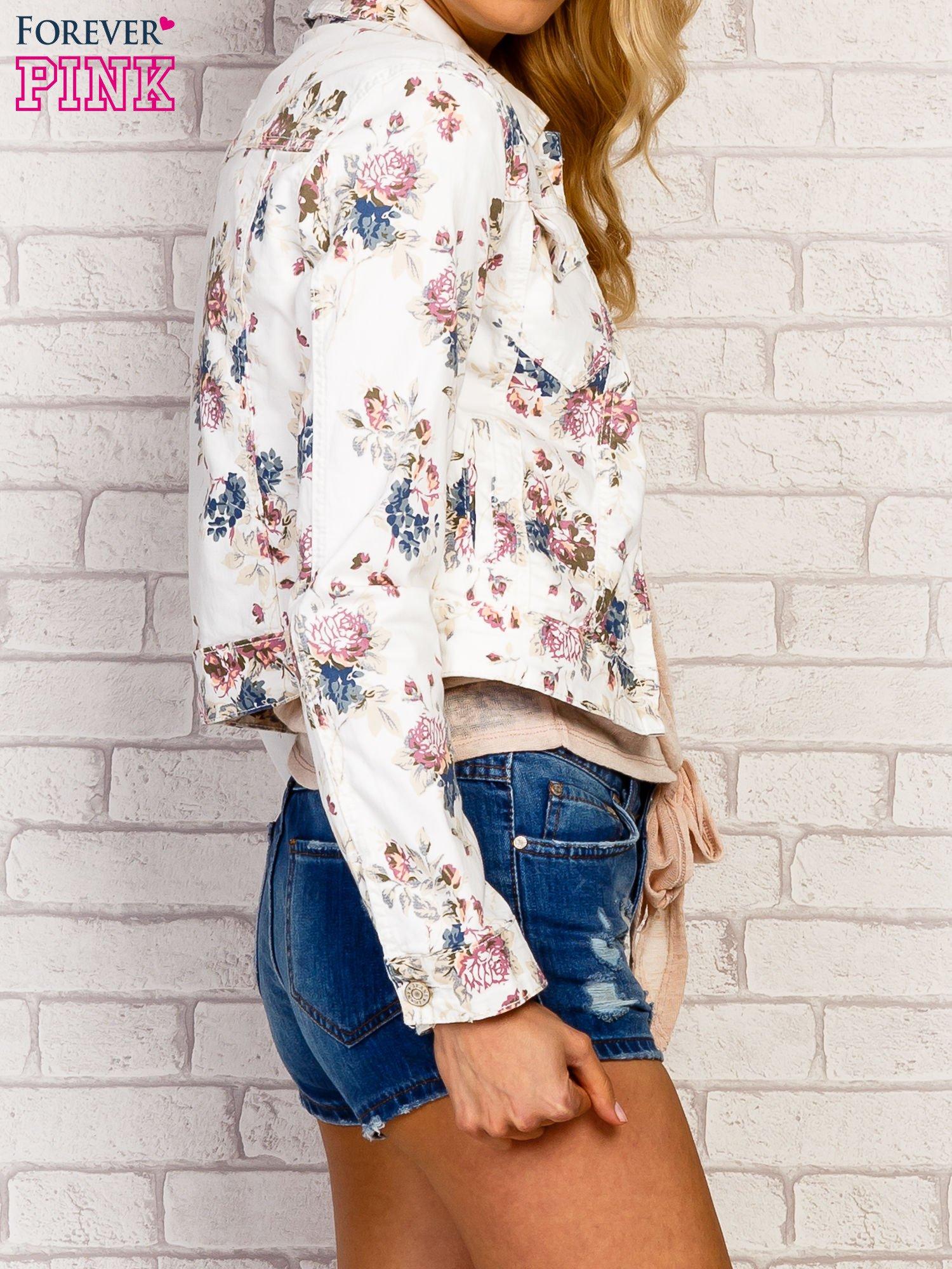 Kwiatowa kurtka jeansowa                                  zdj.                                  3