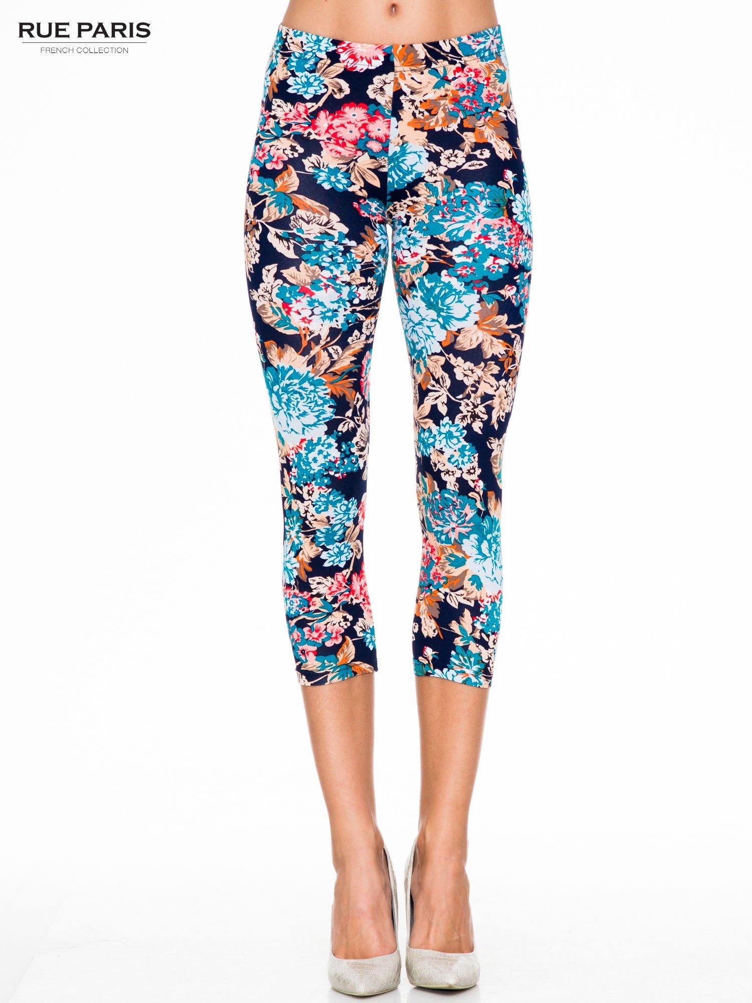 Kwiatowe legginsy długości 3/4                                  zdj.                                  1