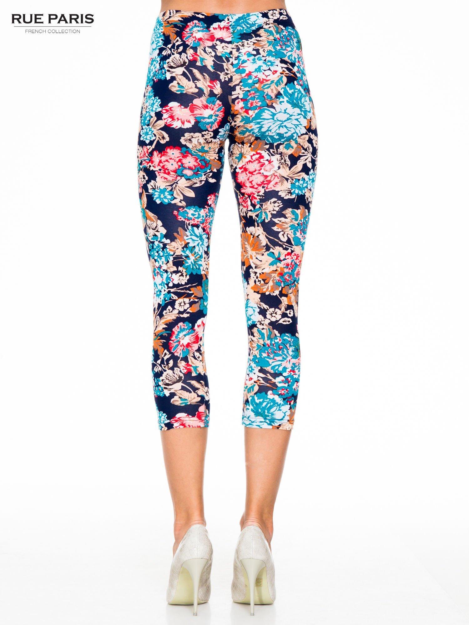 Kwiatowe legginsy długości 3/4                                  zdj.                                  5